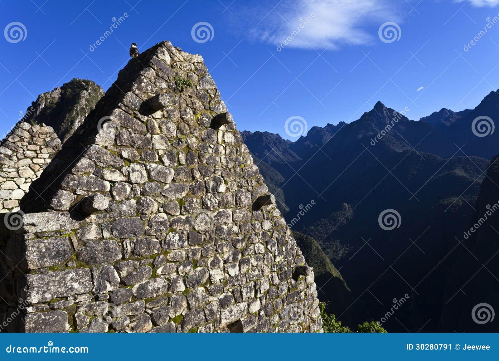 Руины потерянного города Machu Picchu Inca в Перу - Южной Америке