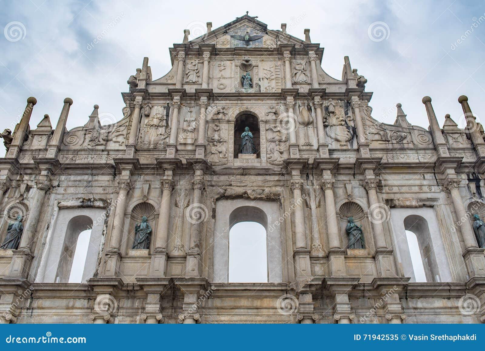 Руины собора St Paul