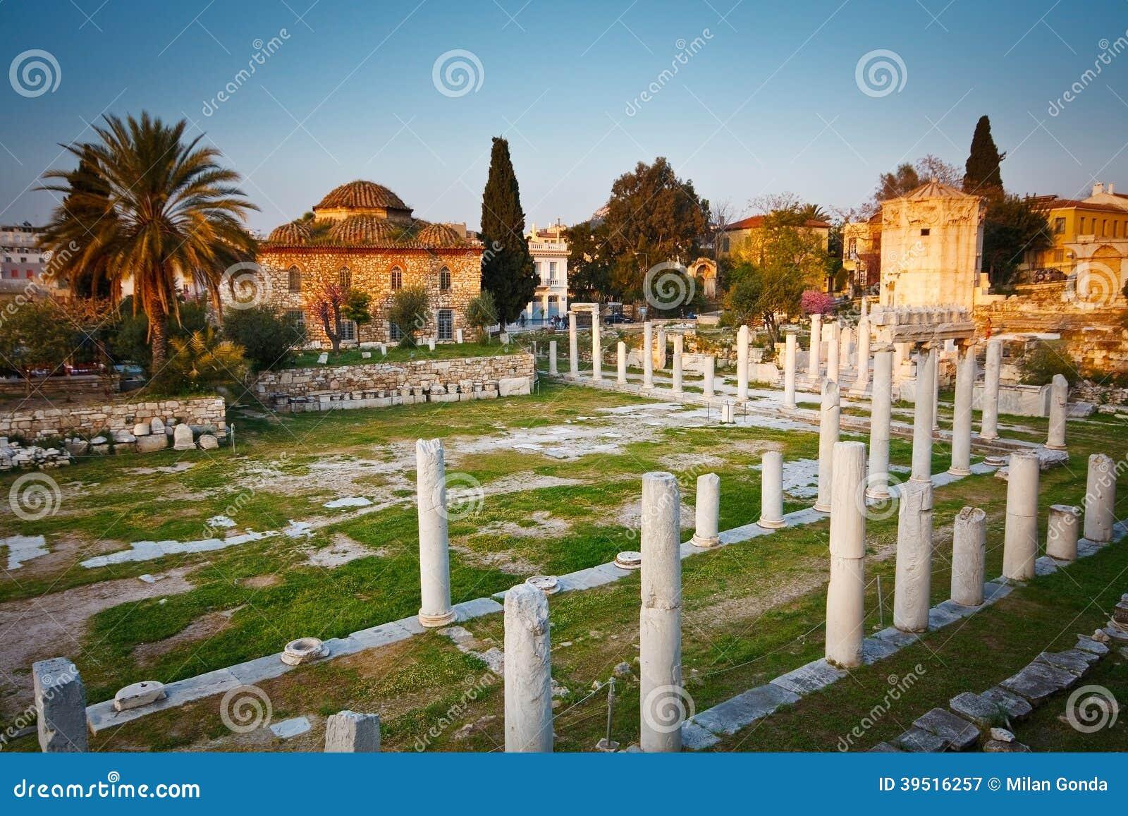 Руины старых Афин.