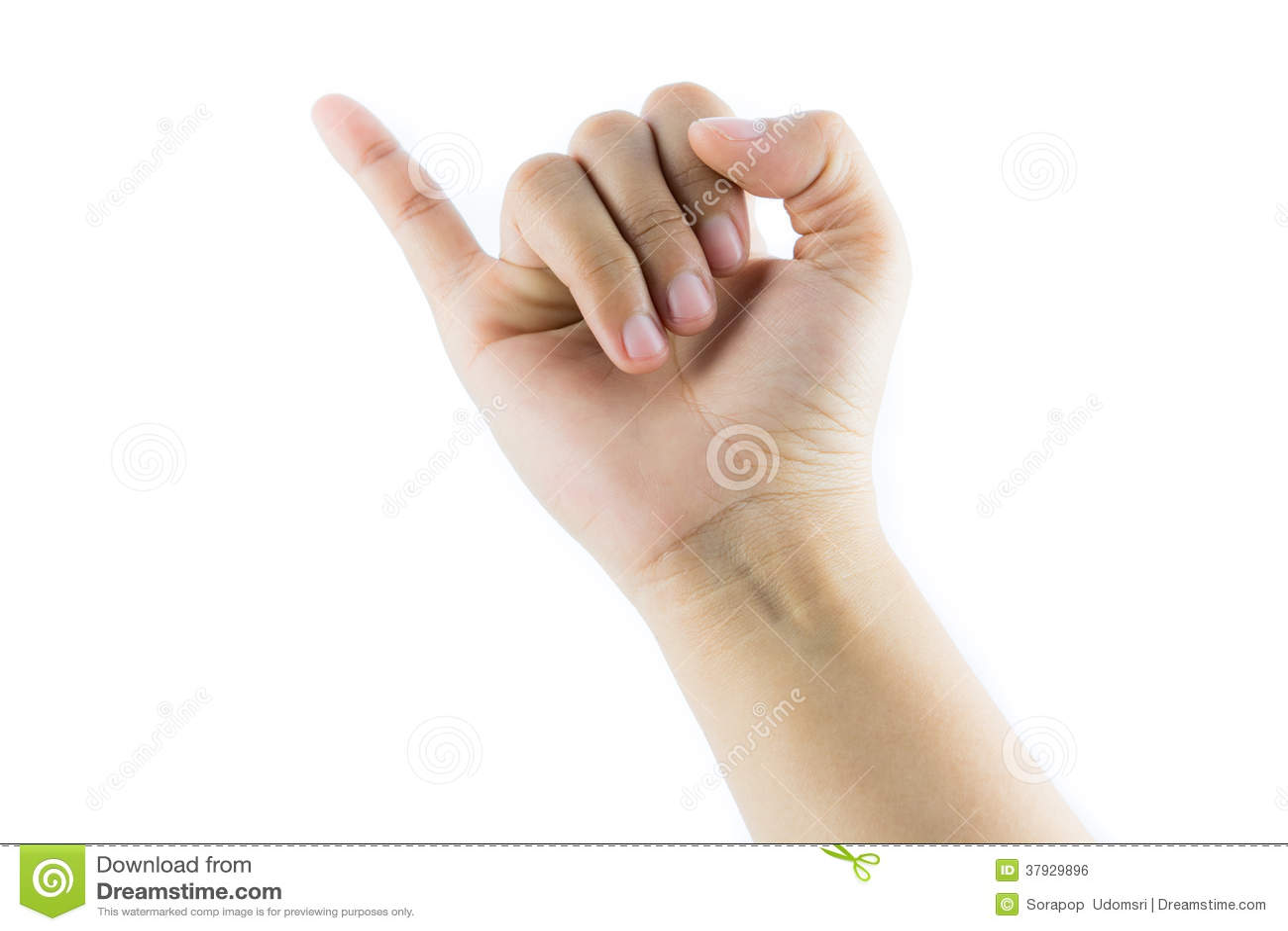 Рука делая изолированный знак