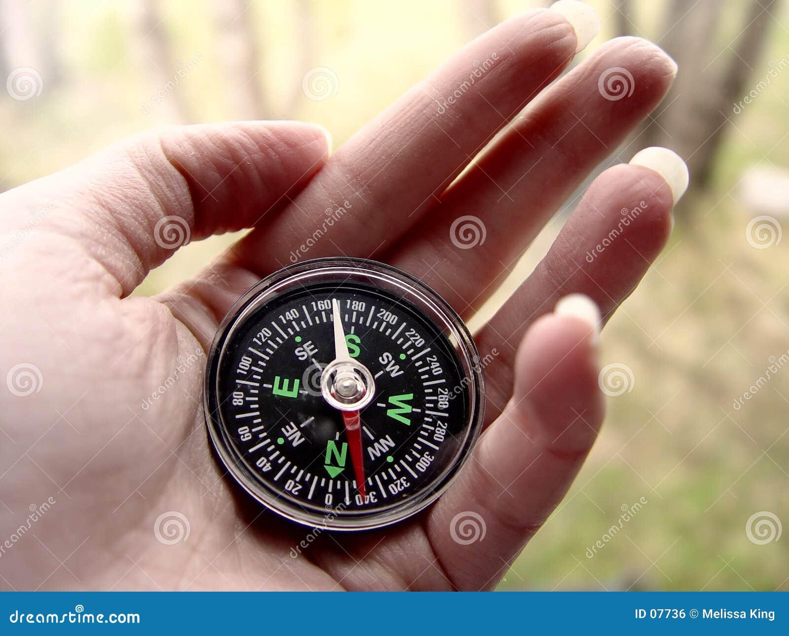 рука компаса