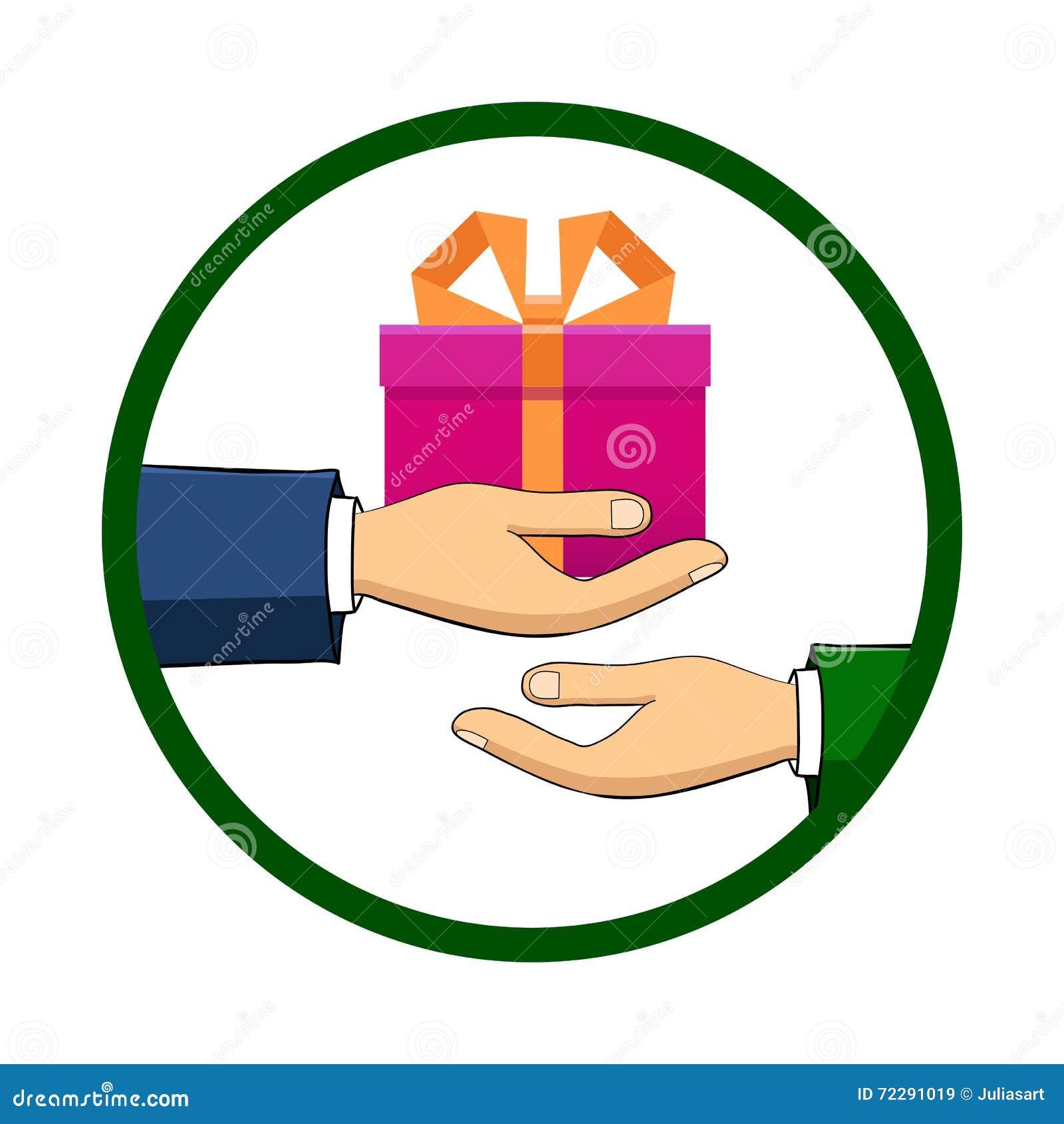 Download Рука которая держит коробку, подарок, переходы оно к другому Perso Иллюстрация вектора - иллюстрации насчитывающей снесите, девушка: 72291019