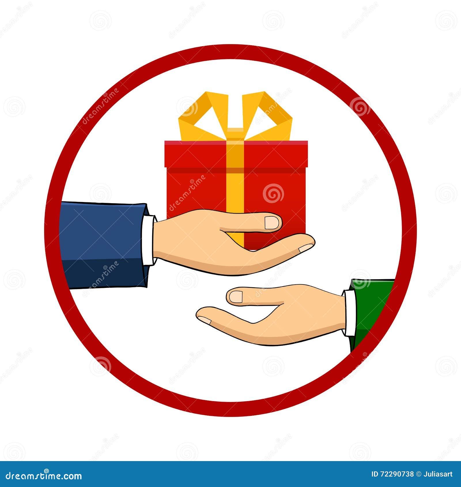 Download Рука которая держит коробку, подарок, переходы Иллюстрация вектора - иллюстрации насчитывающей рождество, иллюстрация: 72290738