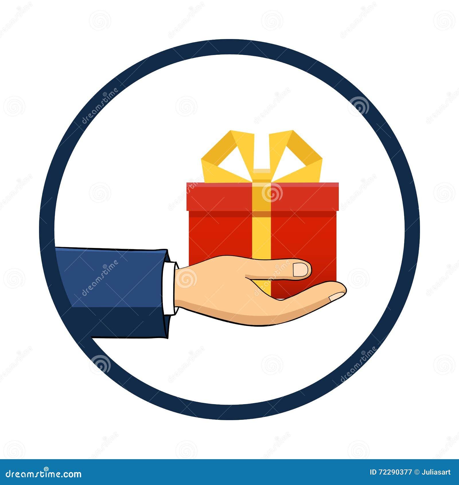 Download Рука которая держит коробку, подарок Плоский стиль Нарисованный вручную Иллюстрация вектора - иллюстрации насчитывающей arlington, давать: 72290377
