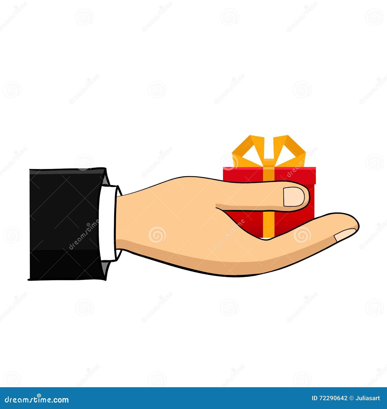 Download Рука которая держит коробку, подарок Плоский стиль Нарисованный вручную Иллюстрация вектора - иллюстрации насчитывающей человек, конструкция: 72290642