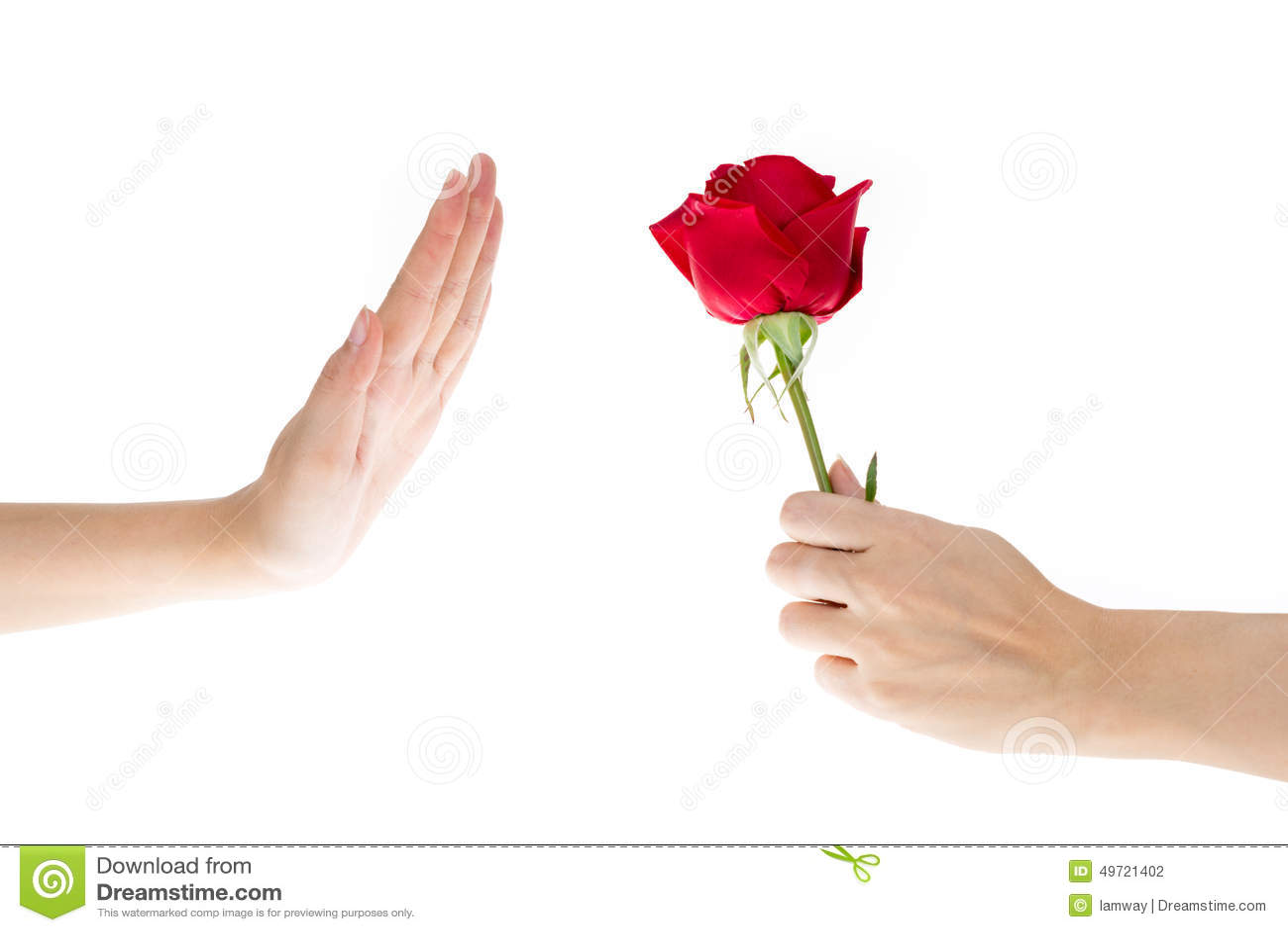 Рука отказала подарок, цветки