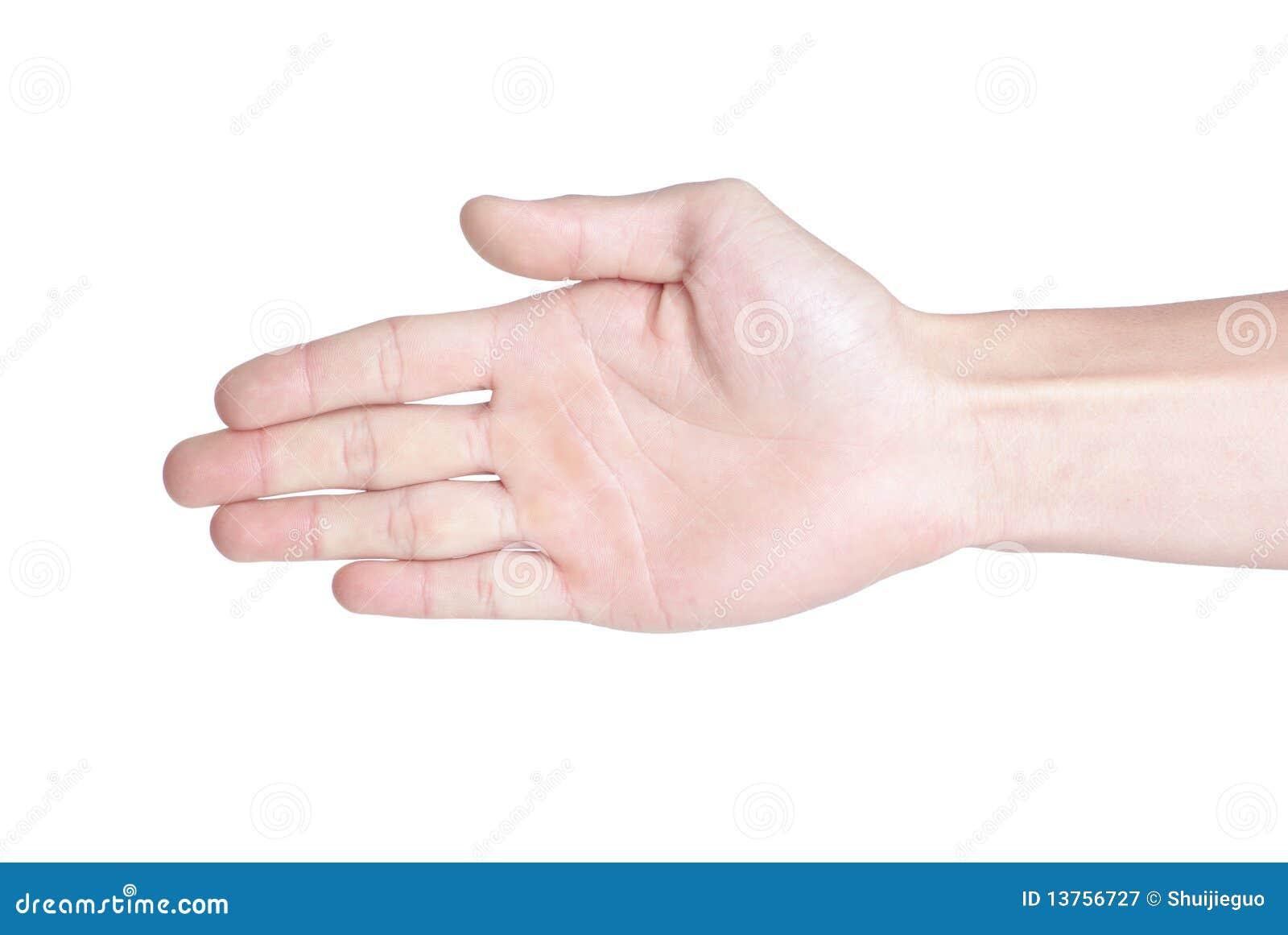 рука открытая