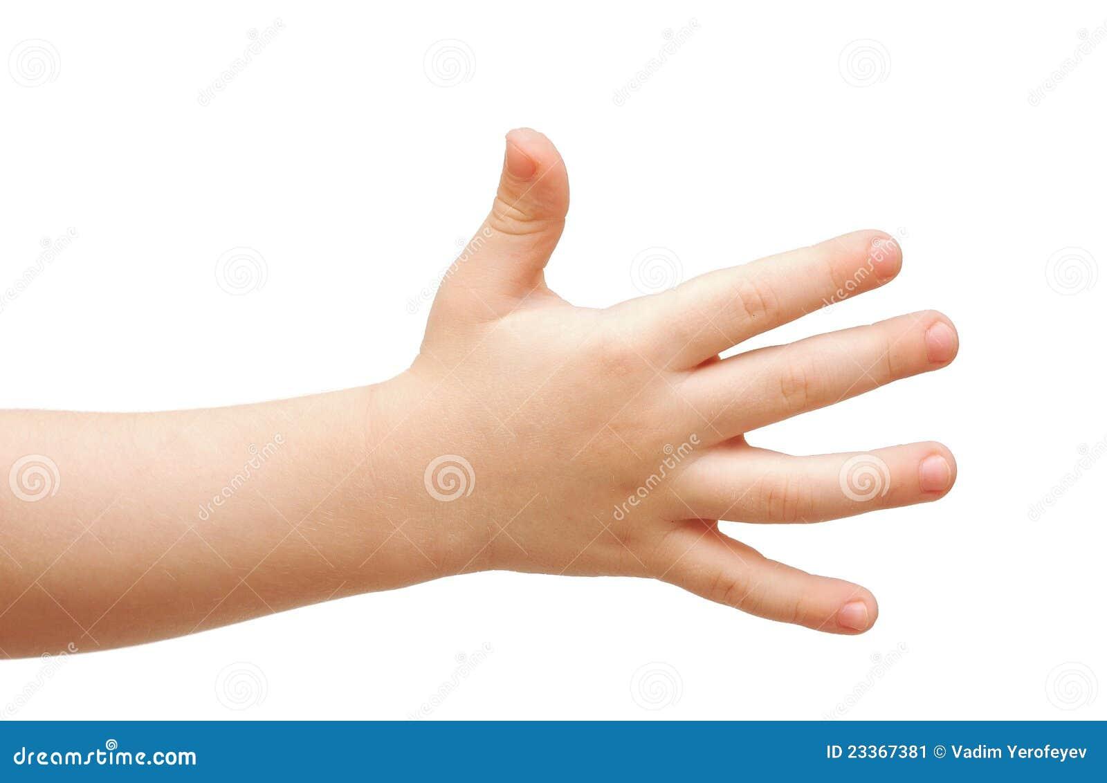 Рука ребенка