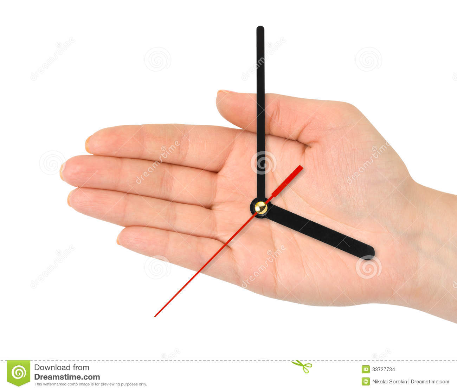 Рука с час-руками