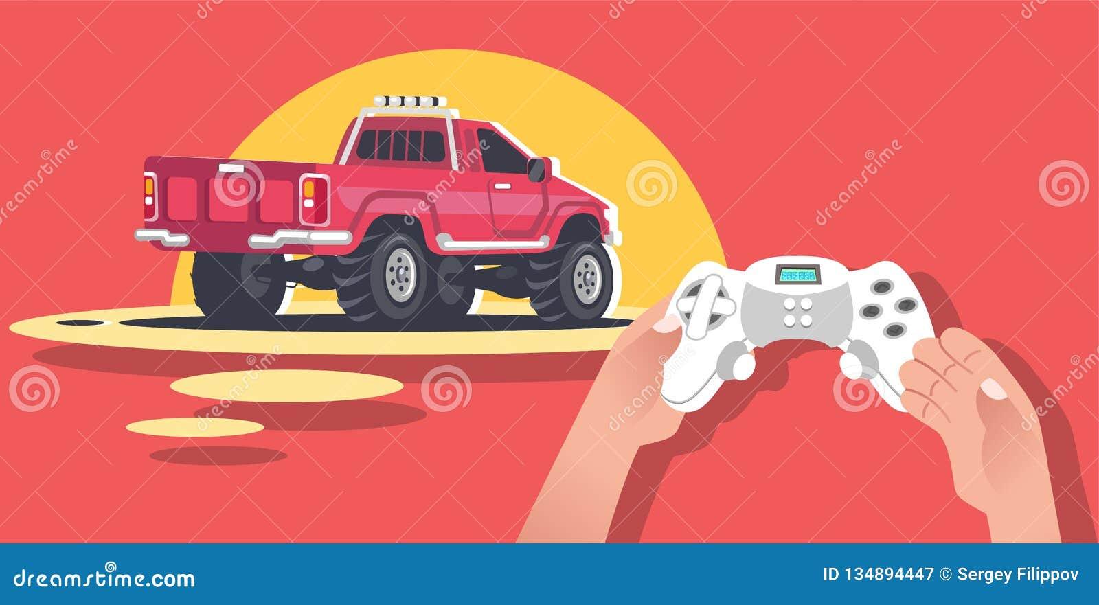 Руки держа консоль видеоигры