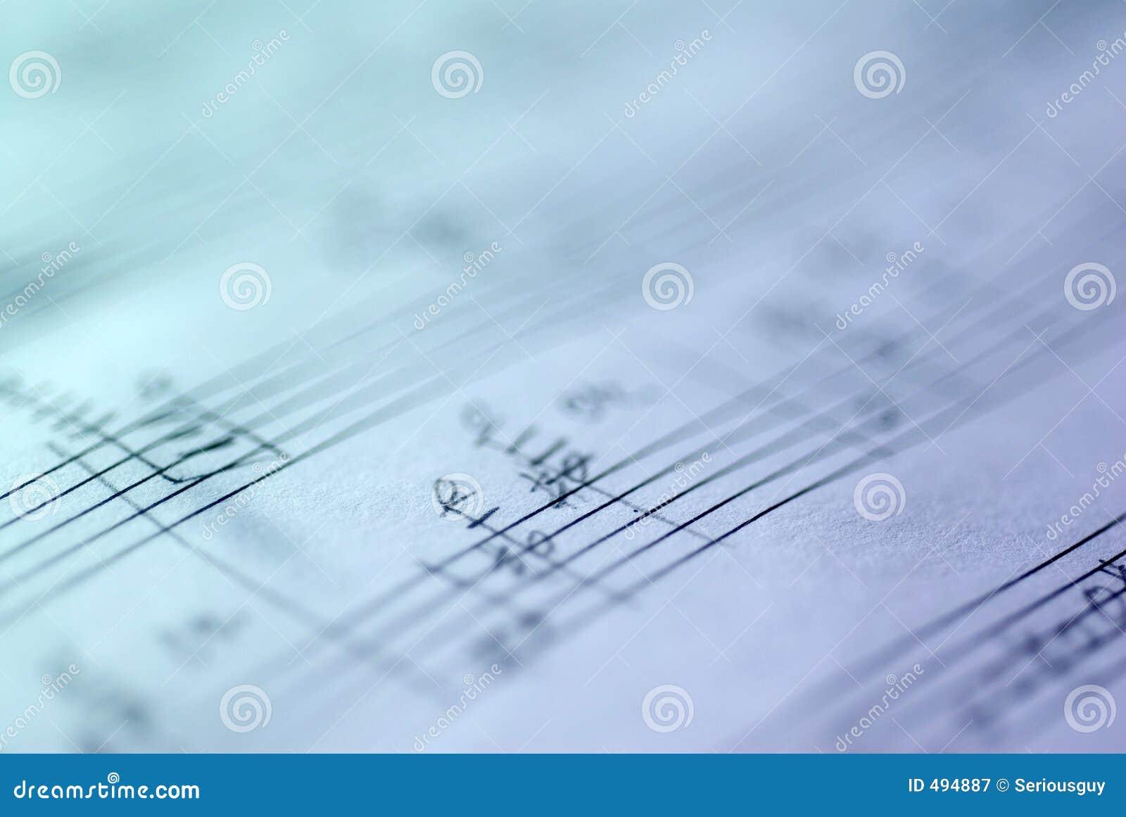 рукописный музыкальный счет