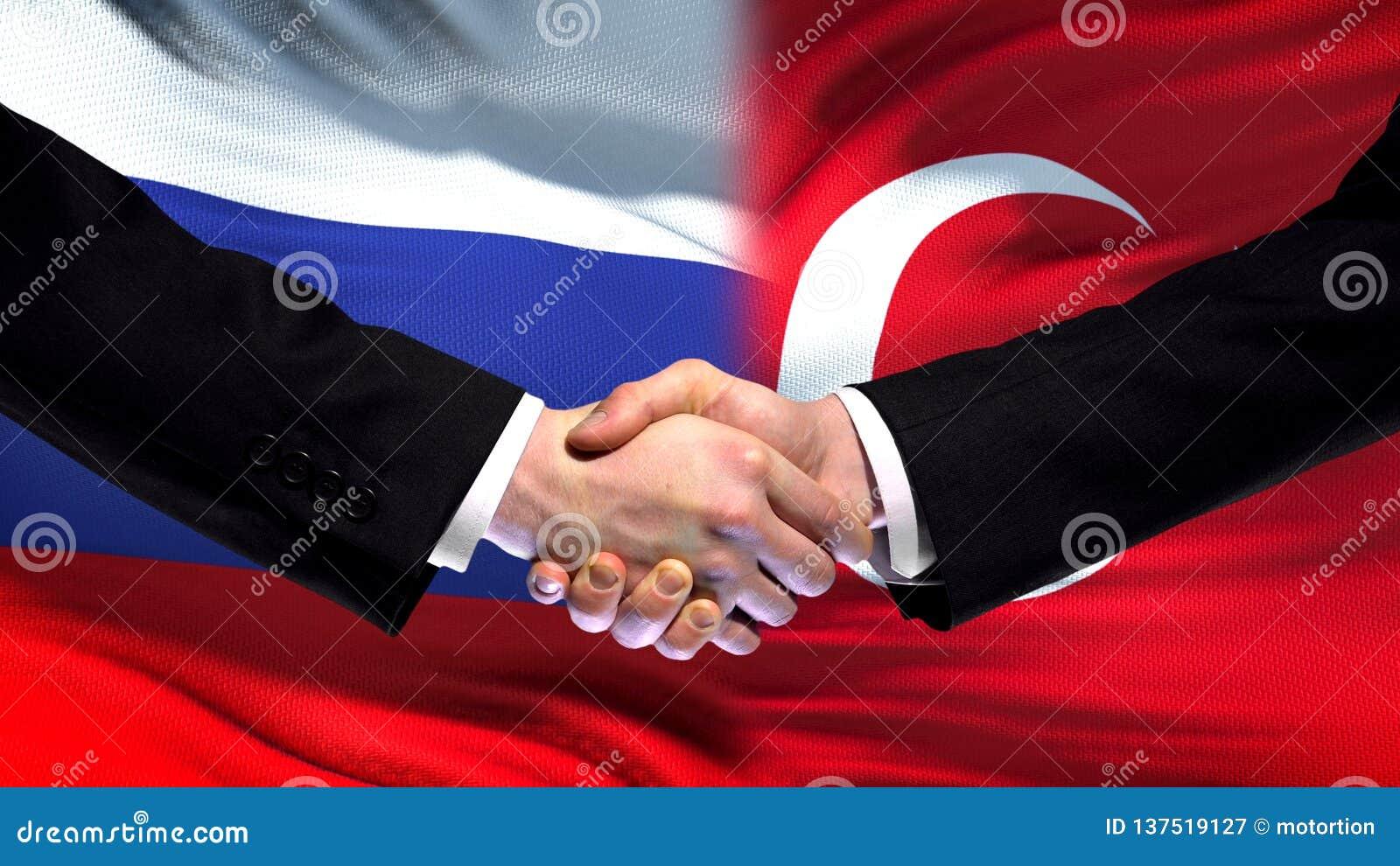 Рукопожатие России и Турции, международные отношения приятельства, предпосылка флага