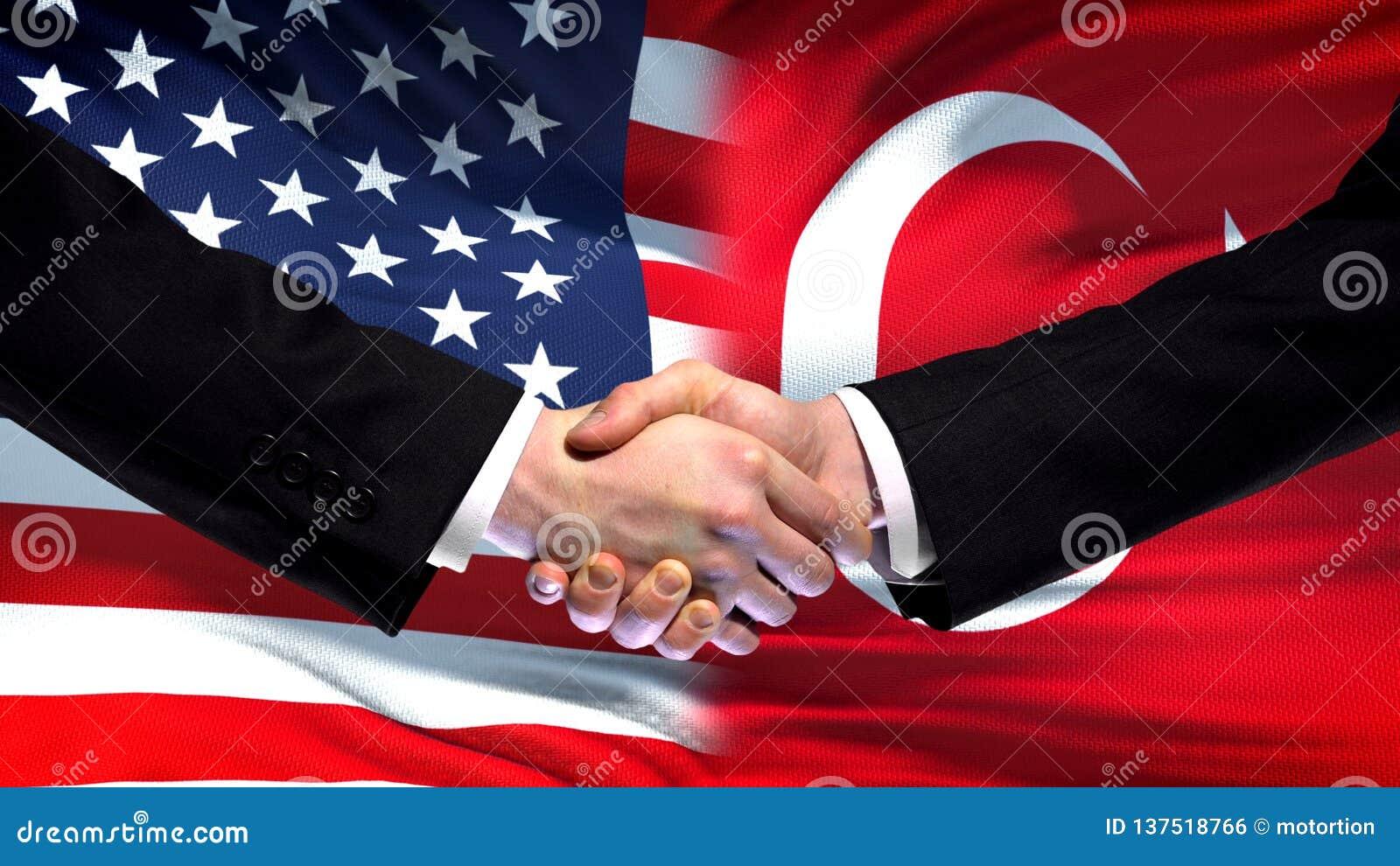 Рукопожатие Соединенных Штатов и Турции, международное приятельство, предпосылка флага