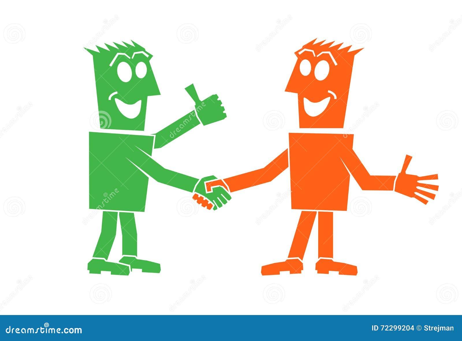 Download Рукопожатие 2 людей иллюстрация вектора. иллюстрации насчитывающей экзекьютив - 72299204