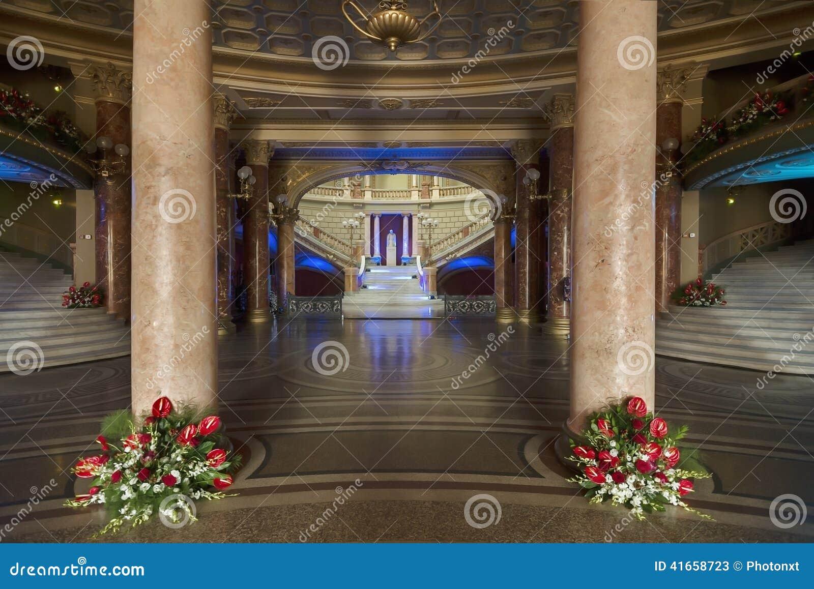 Румынский атеней, Бухарест Румыния - внутреннее изображение
