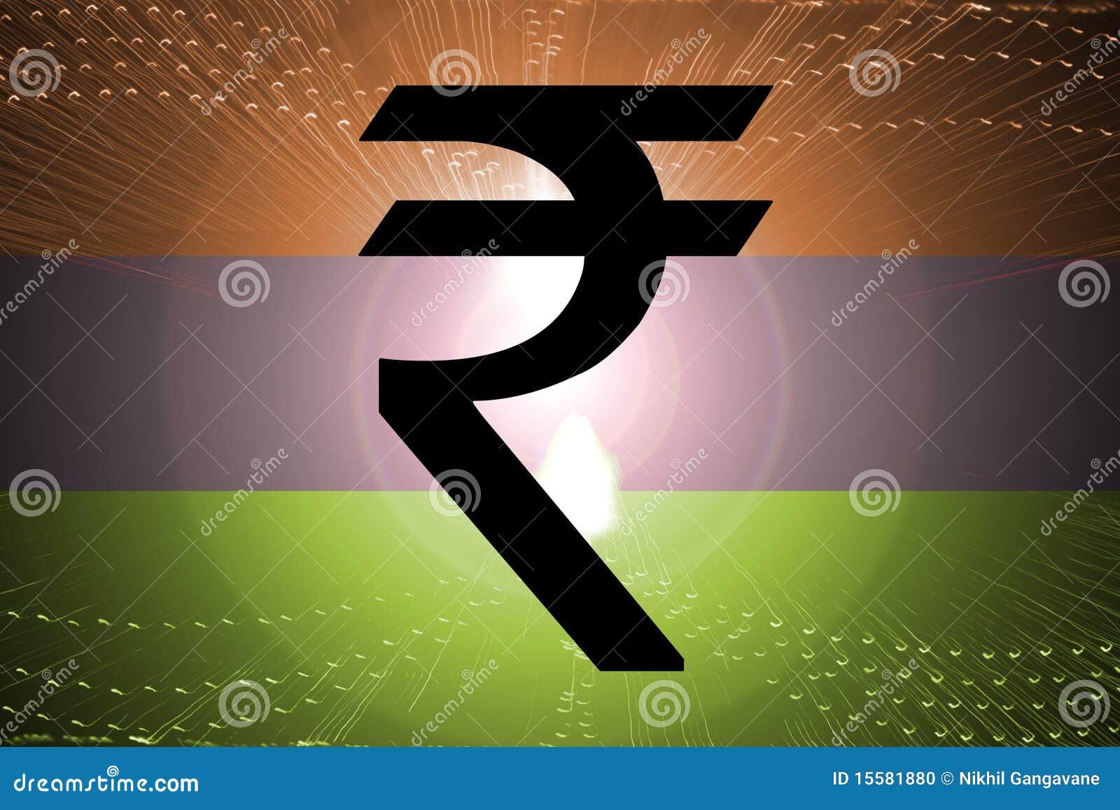 рупия флага индийская