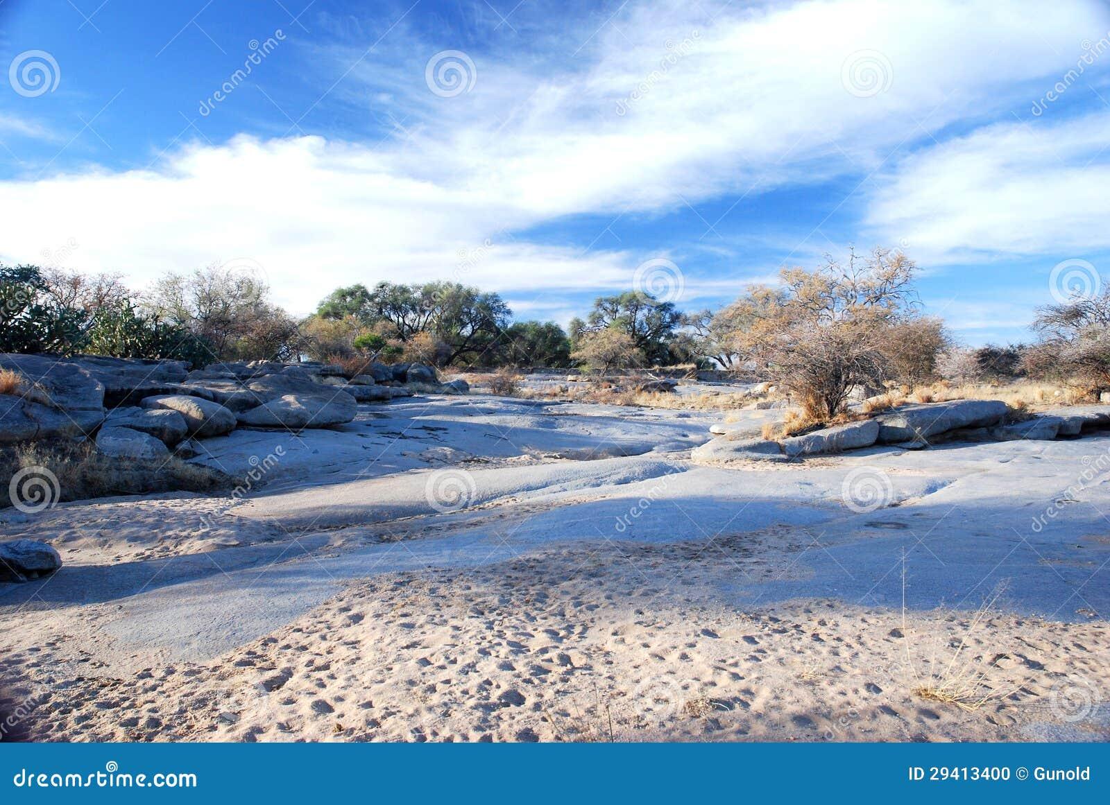 Русло реки Okonjou