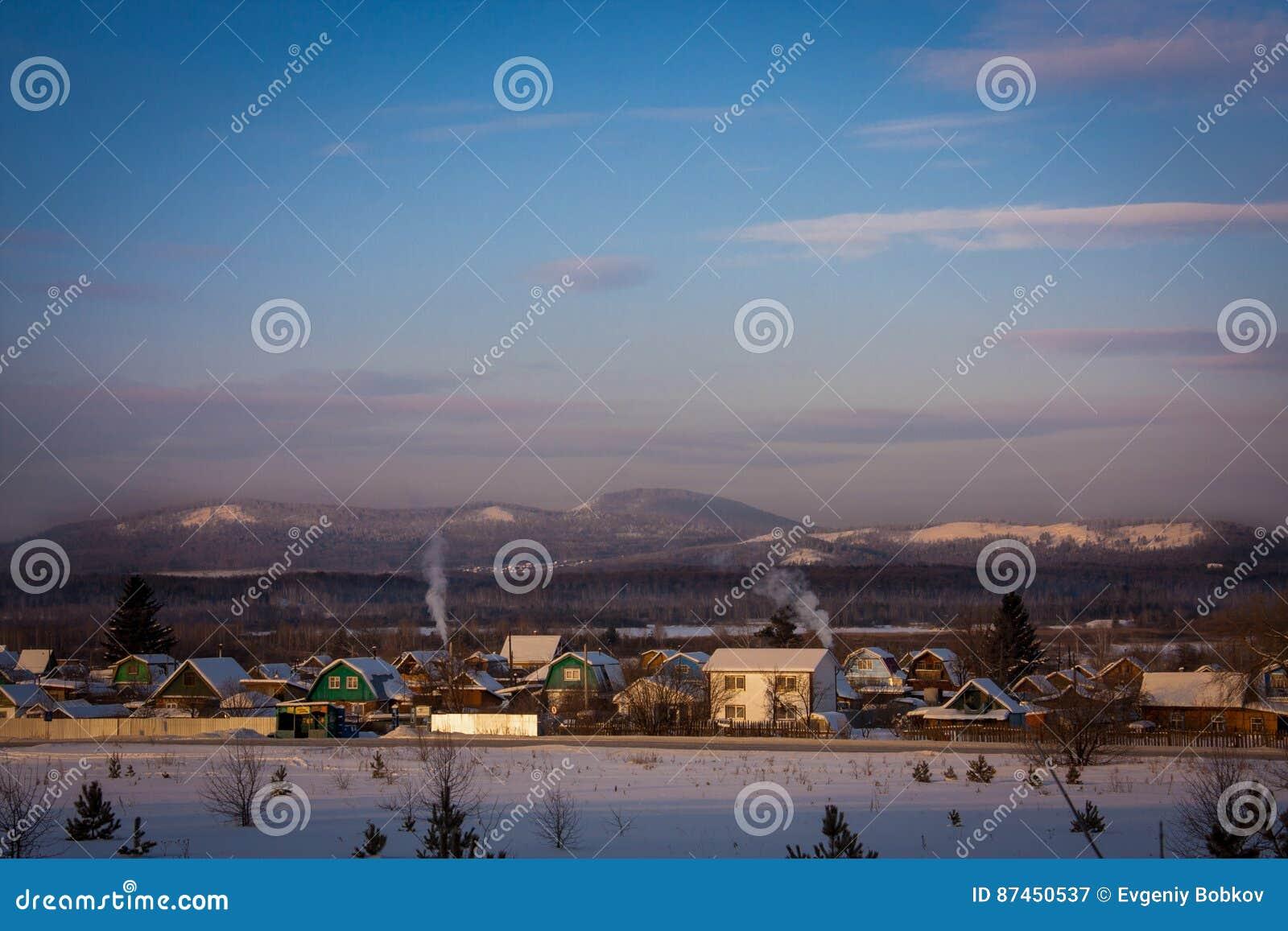 Русская деревня в горах