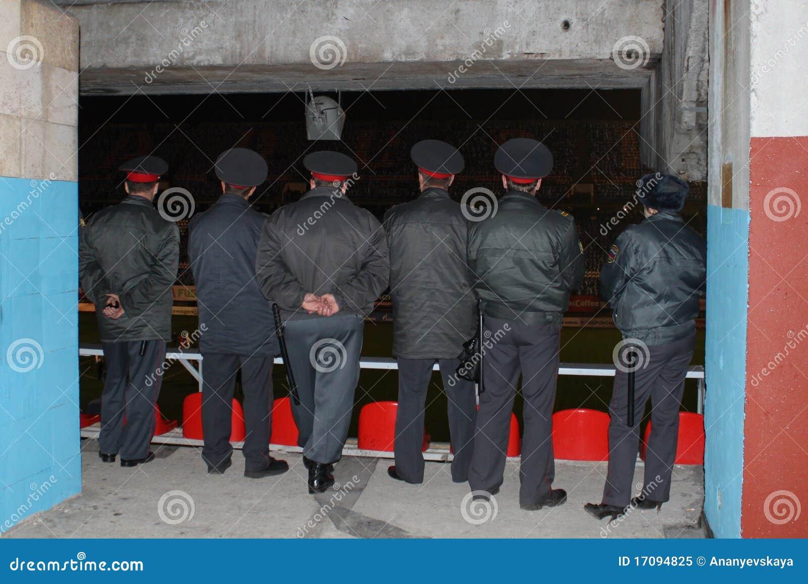 русский milicia футбольного матча