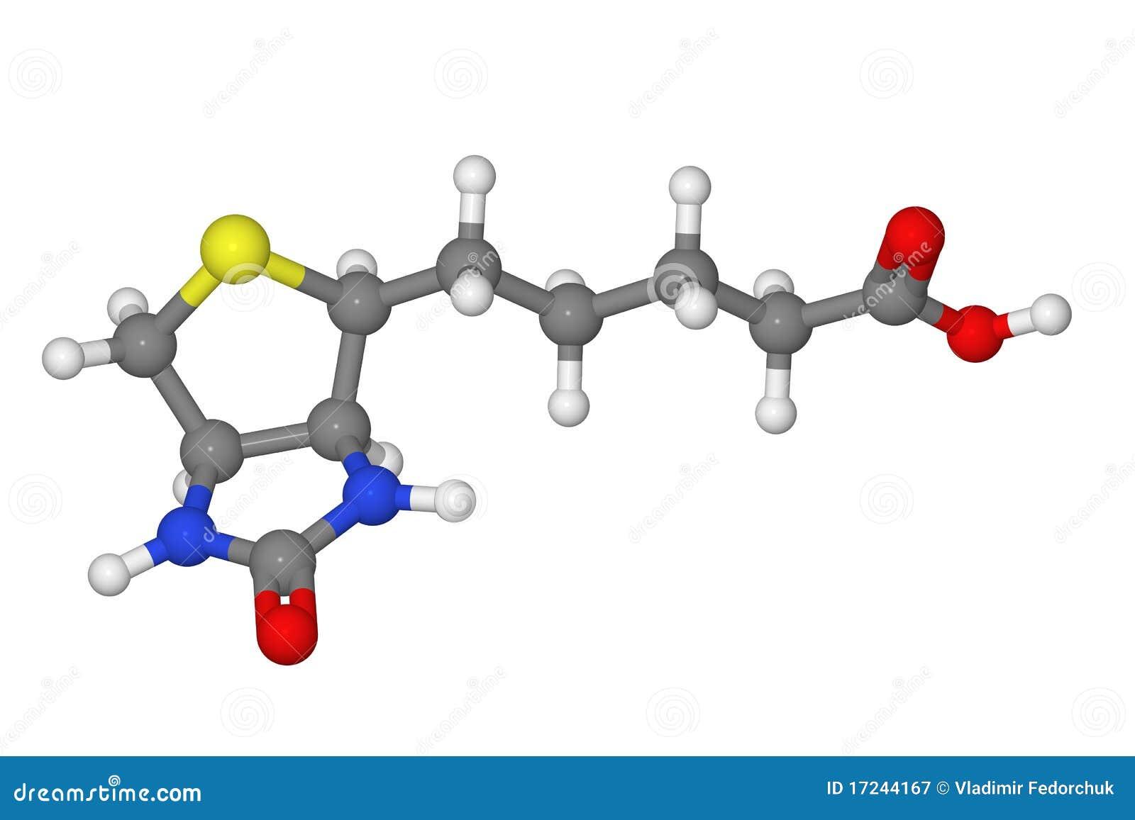 ручка молекулы модели биотина шарика