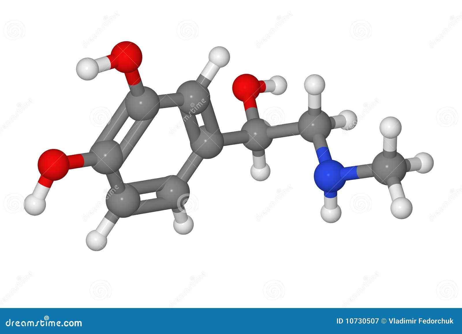 ручка молекулы модели шарика адреналина