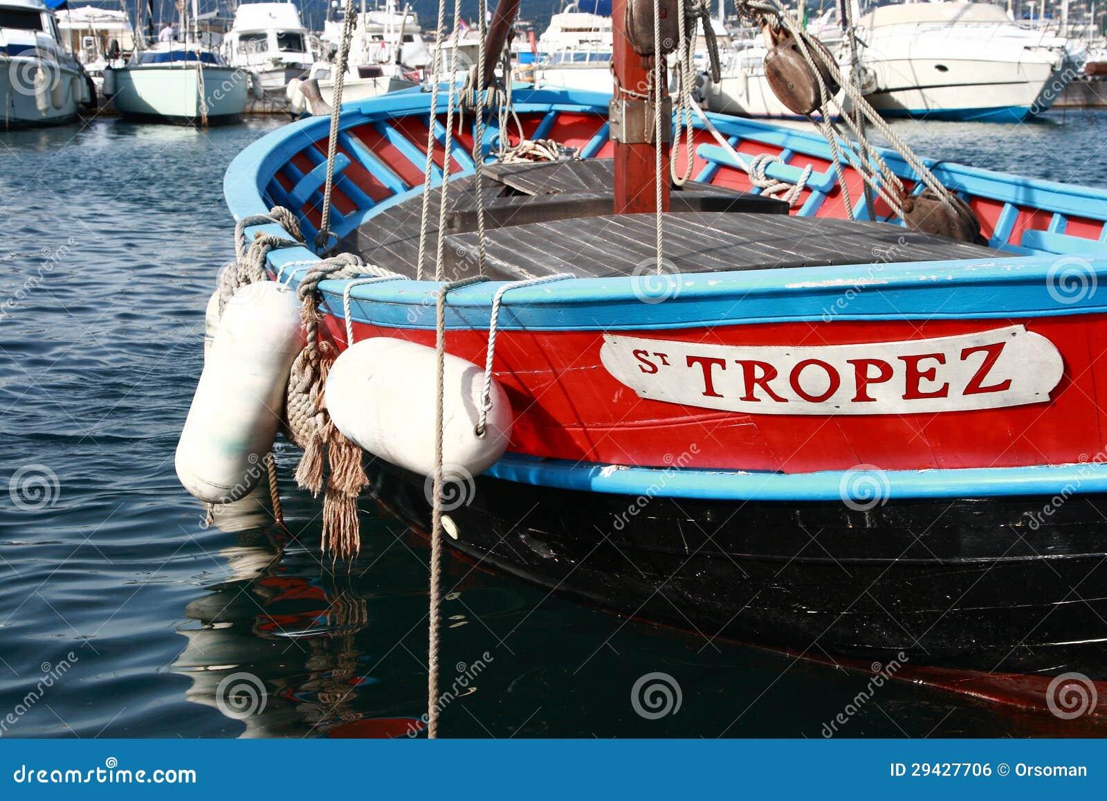 Рыбацкая лодка в St Tropez