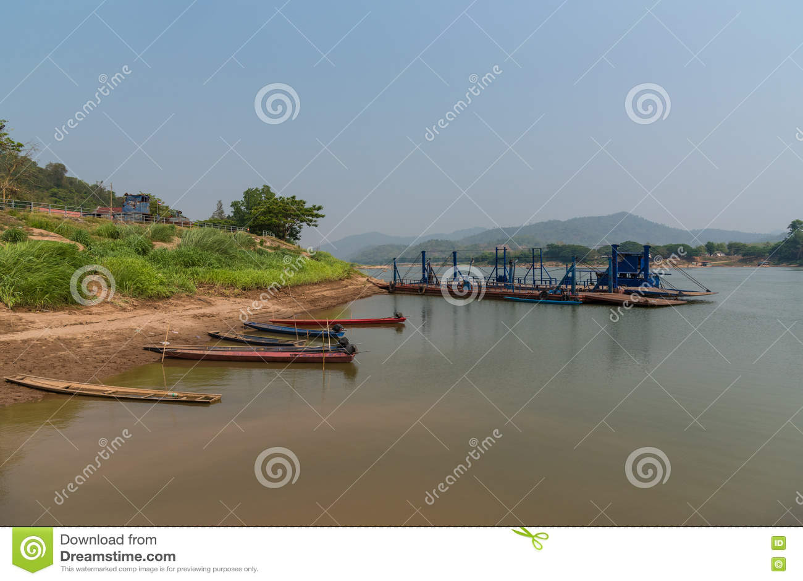 Рыбацкая лодка ландшафта