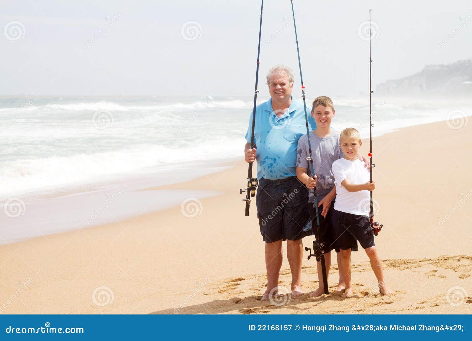 Рыболовство пляжа