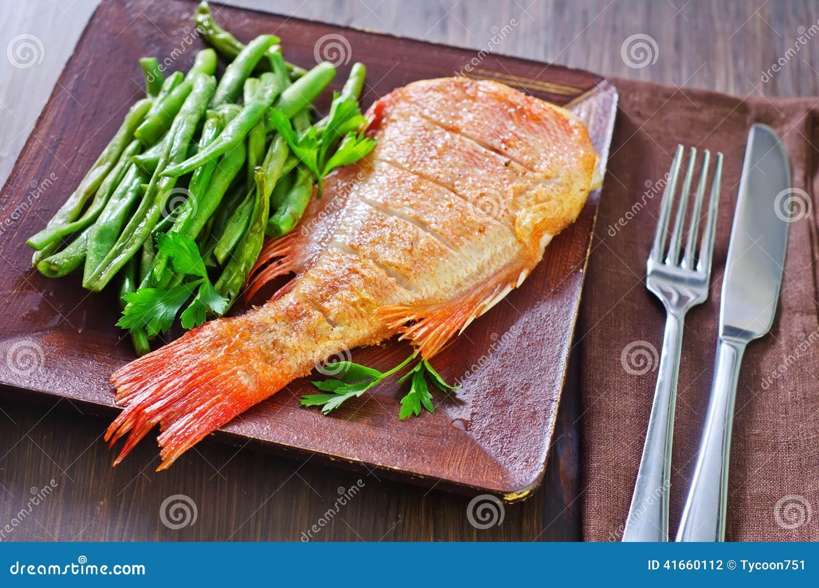 рыбы зажарили