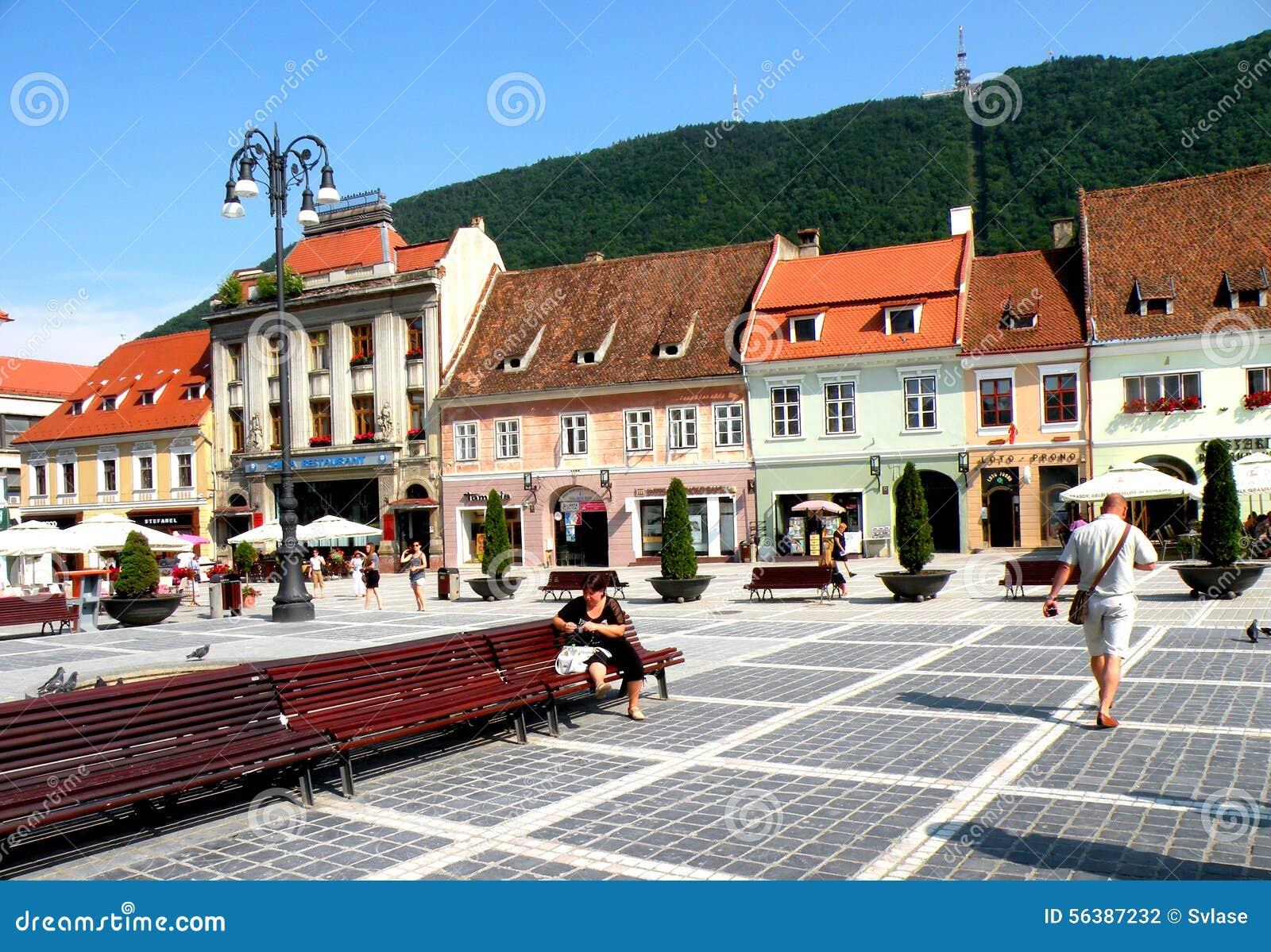 Рыночная площадь в Brasov (Kronstadt), в Transilvania