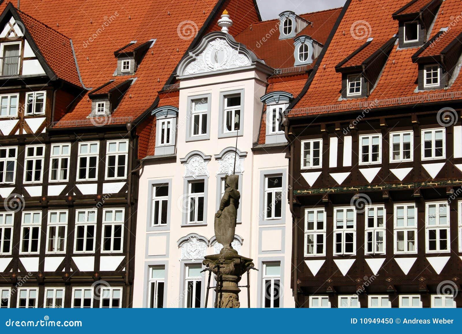 рыночное месте hildeshe красивейшего города немецкое