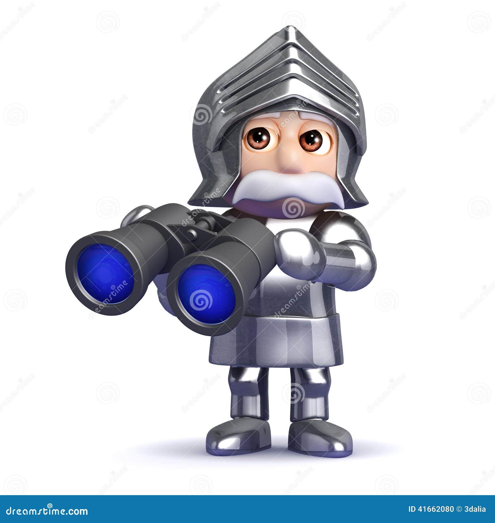рыцарь 3d с биноклями