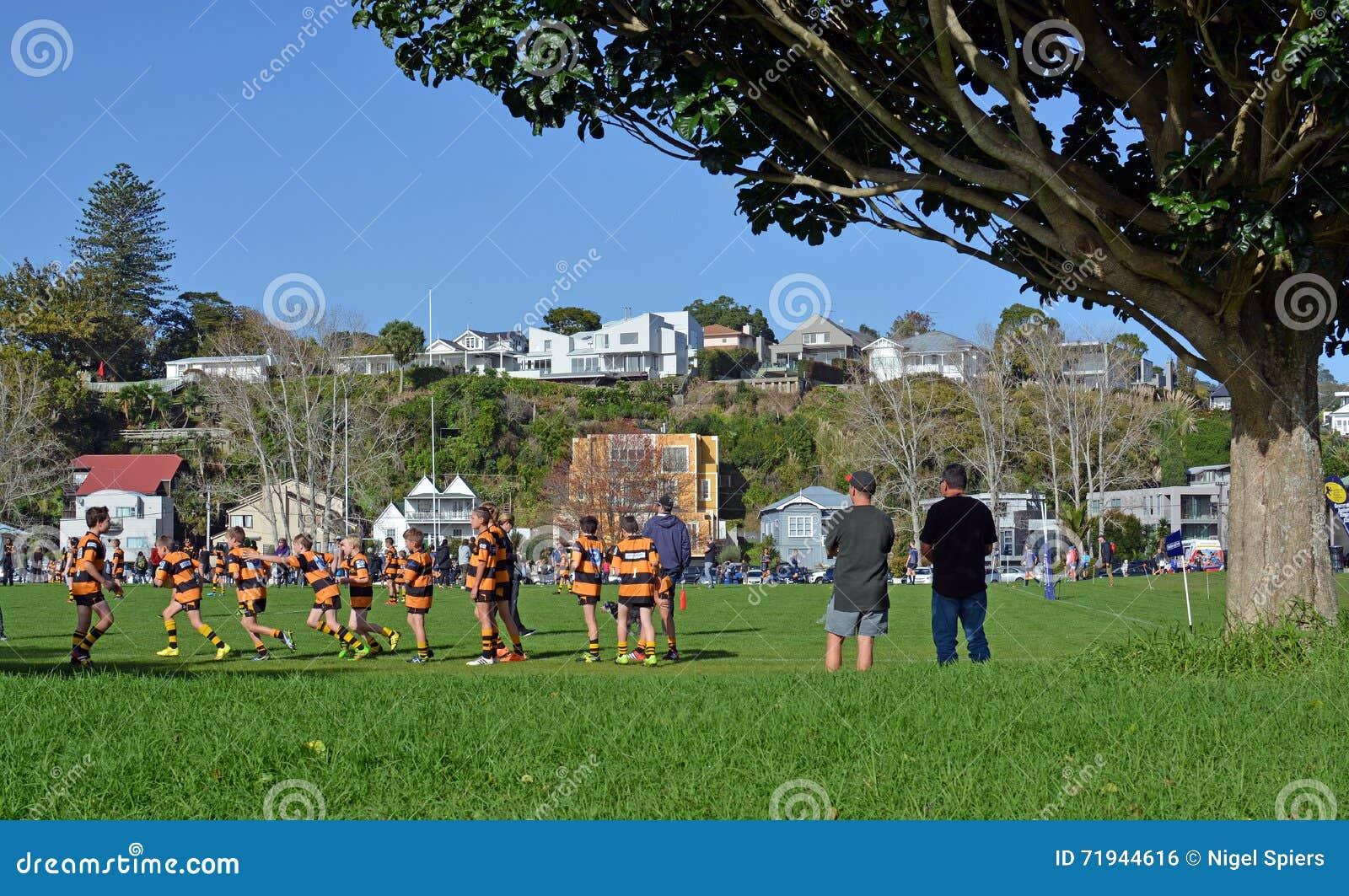 Рэгби школьника младшее в Окленде, Новой Зеландии