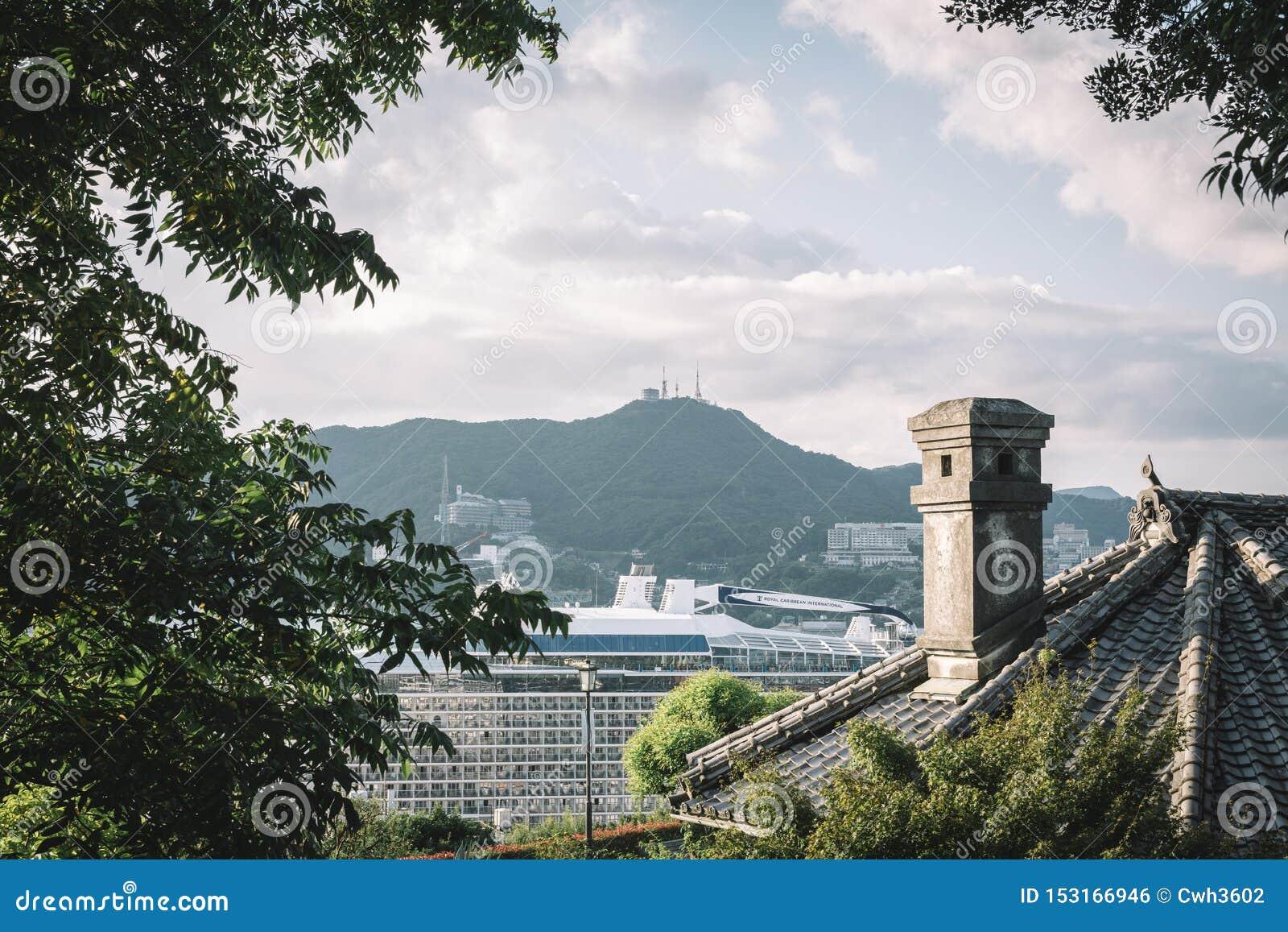 Сад Главера, Нагасаки, Кюсю, Япония - камин и крыша старого дома