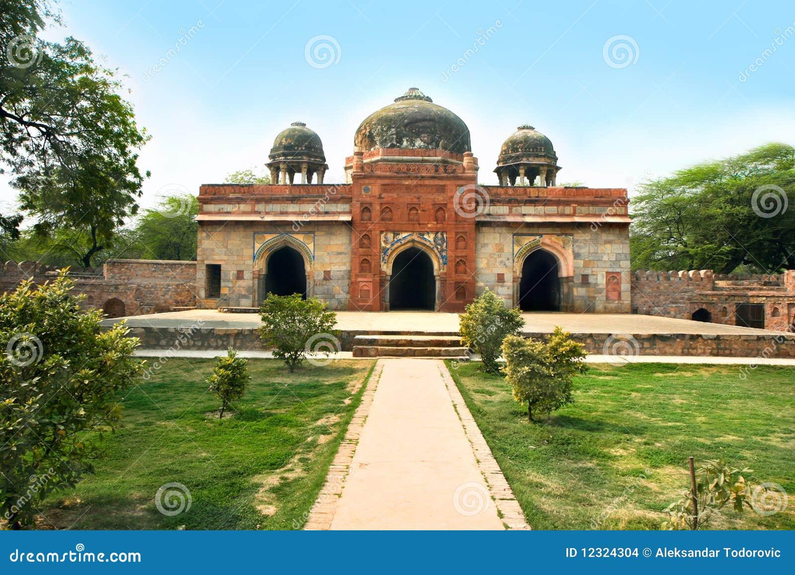 Сад Lodi в городе Дели, Индии