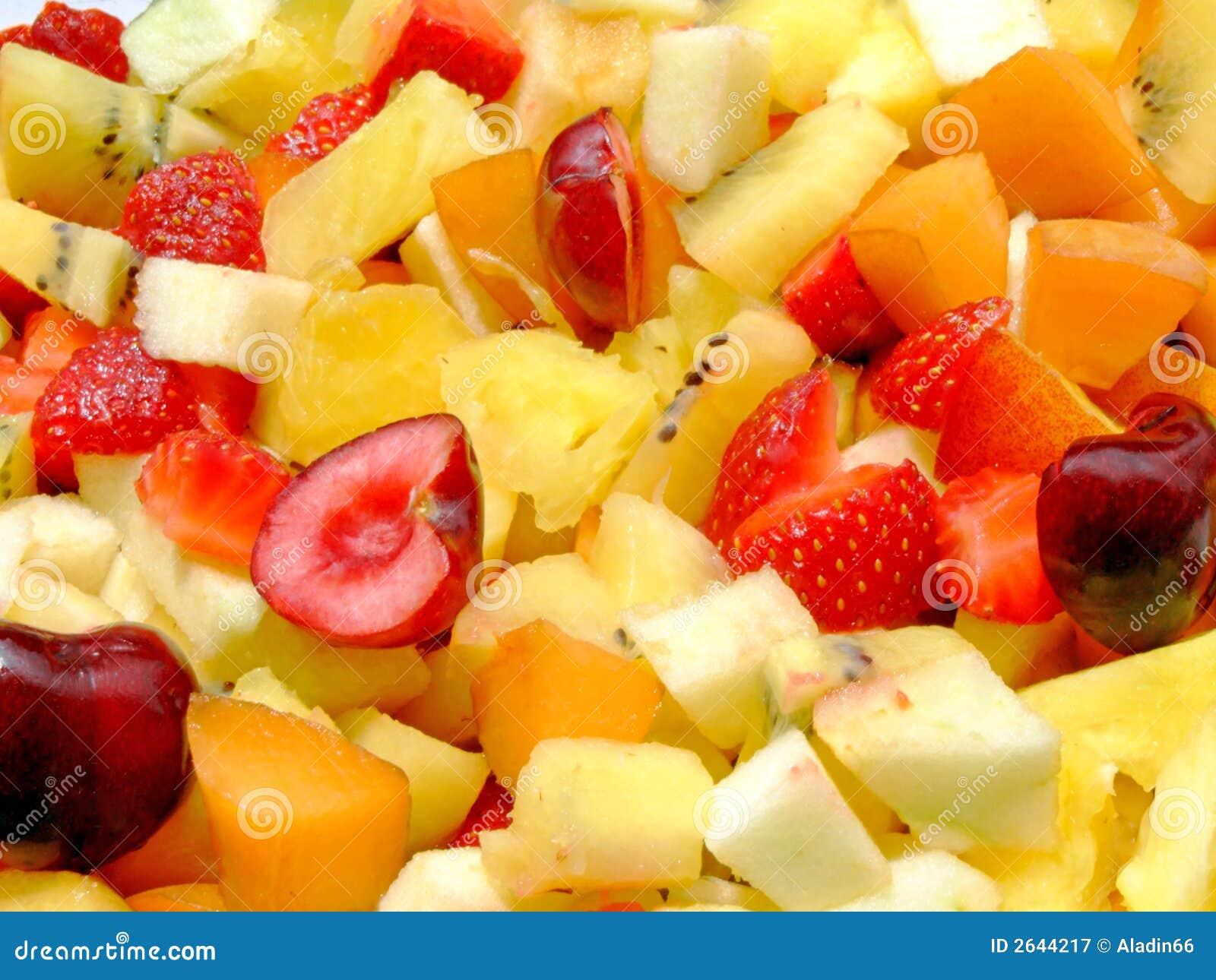 салат свежих фруктов