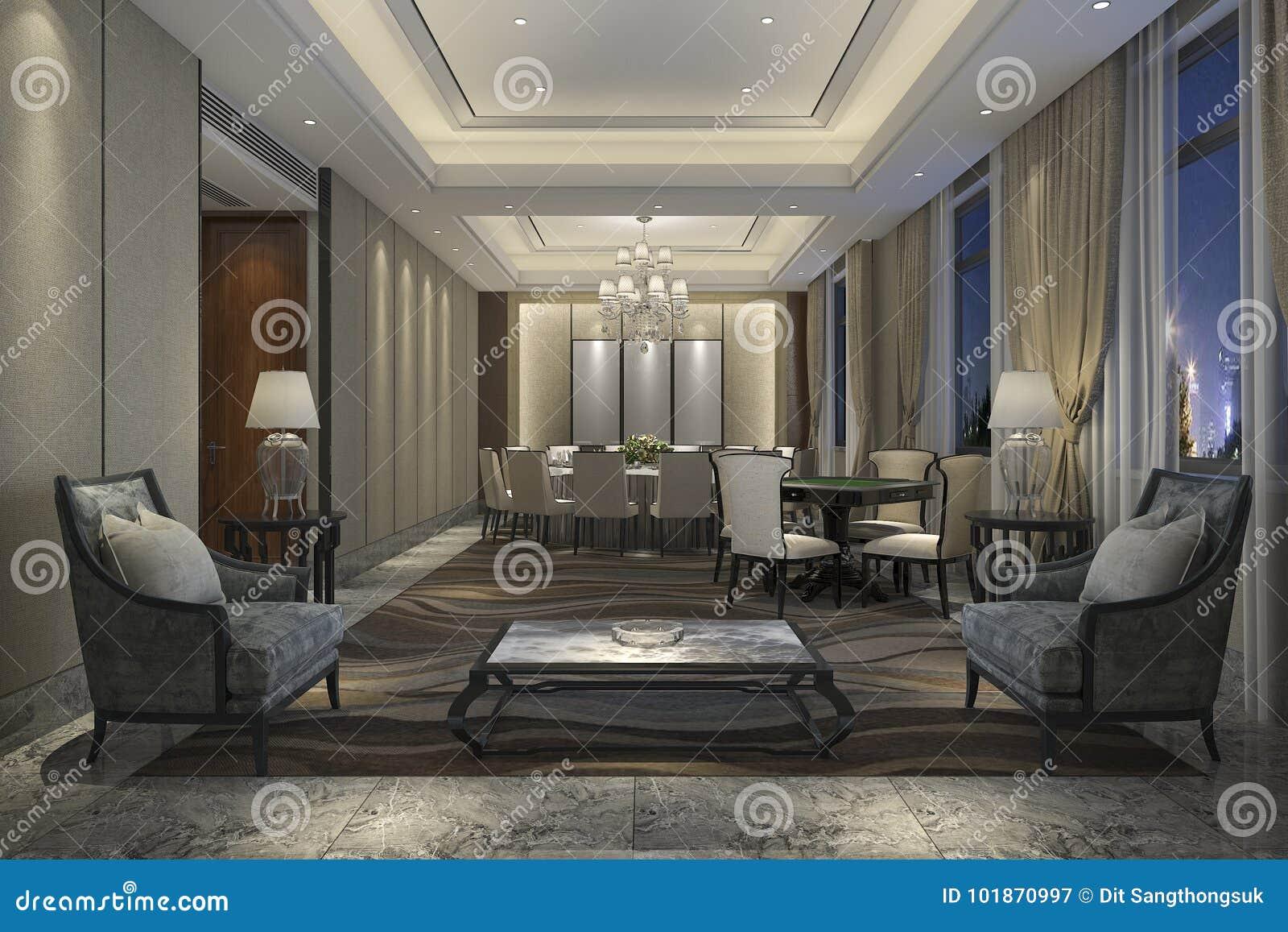 салон отдыха перевода 3d и гостиница лобби для встречать