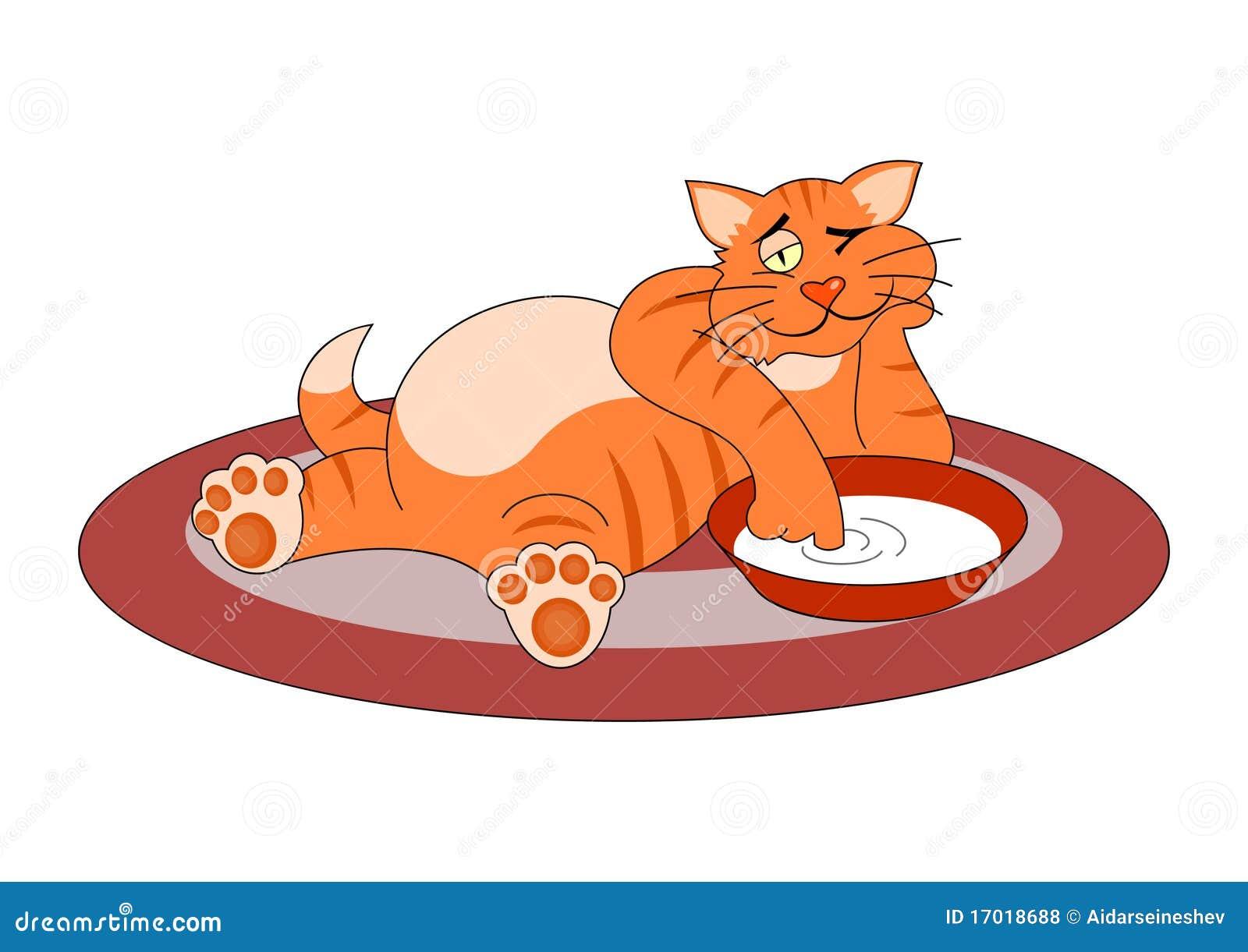 все картинка толстая кошка сидит на коврике нас