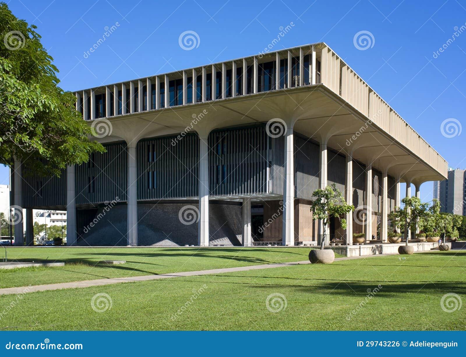Здание капитолия положения, Гонолулу, Оаху, Гавайи