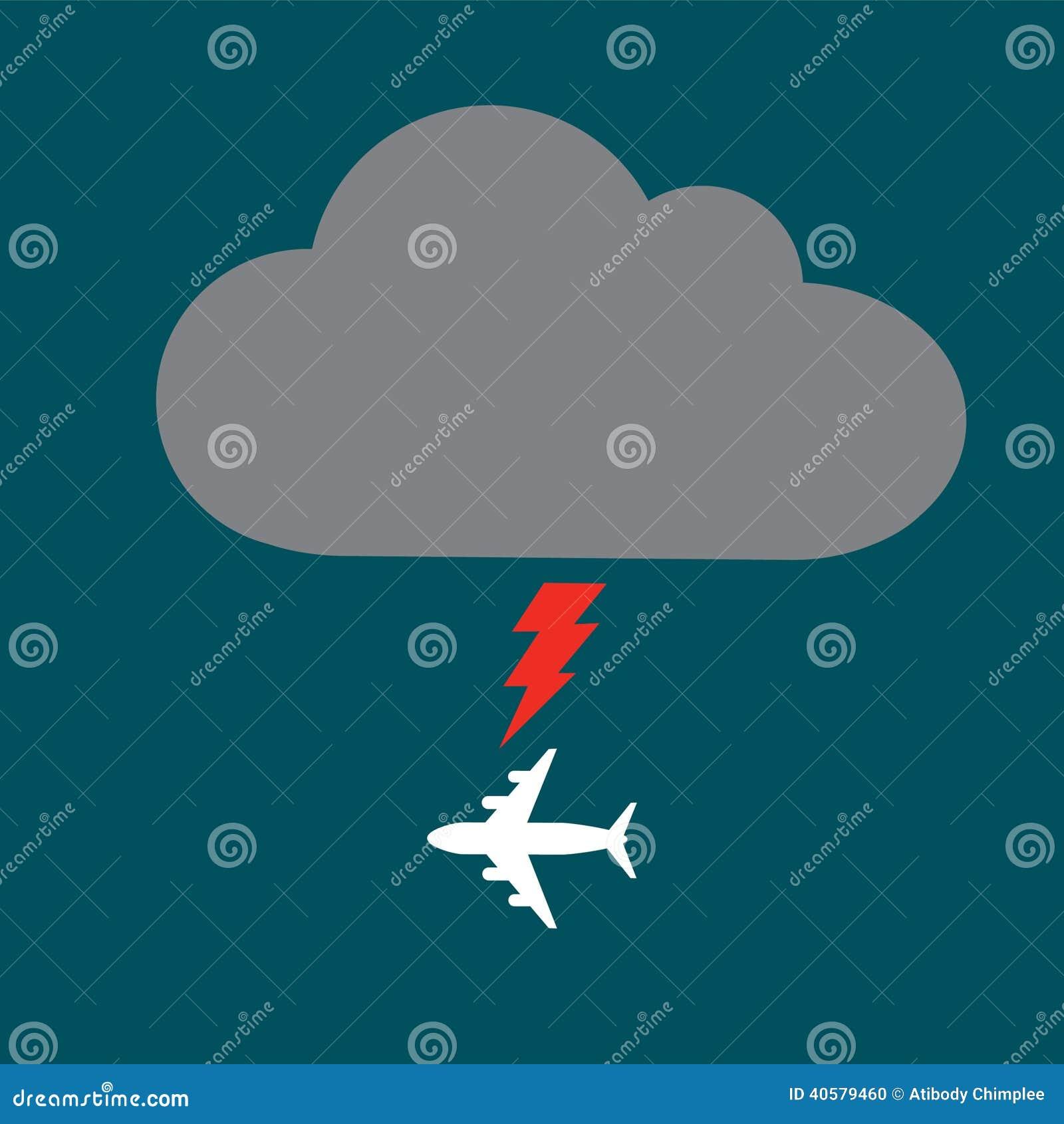 Самолет облака и болта