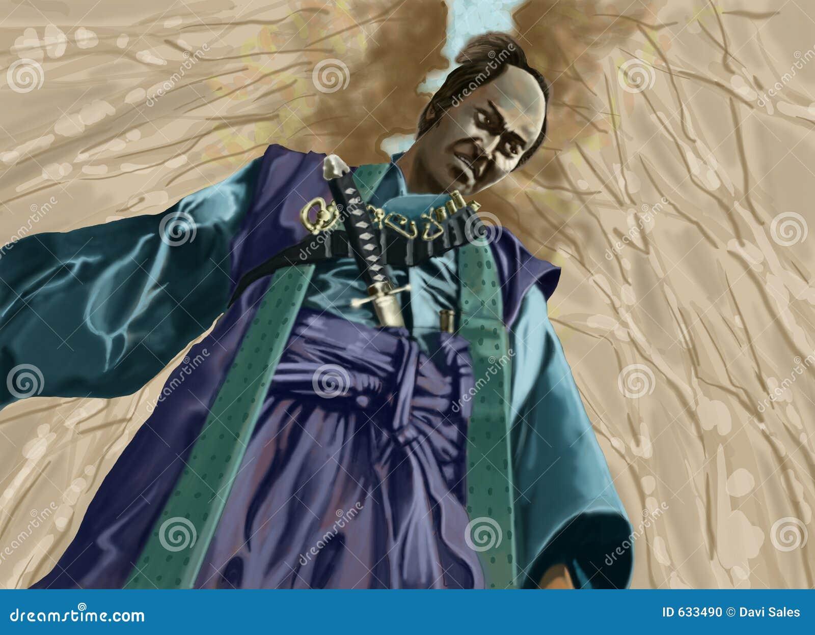Download самураи иллюстрация штока. иллюстрации насчитывающей руководитель - 633490