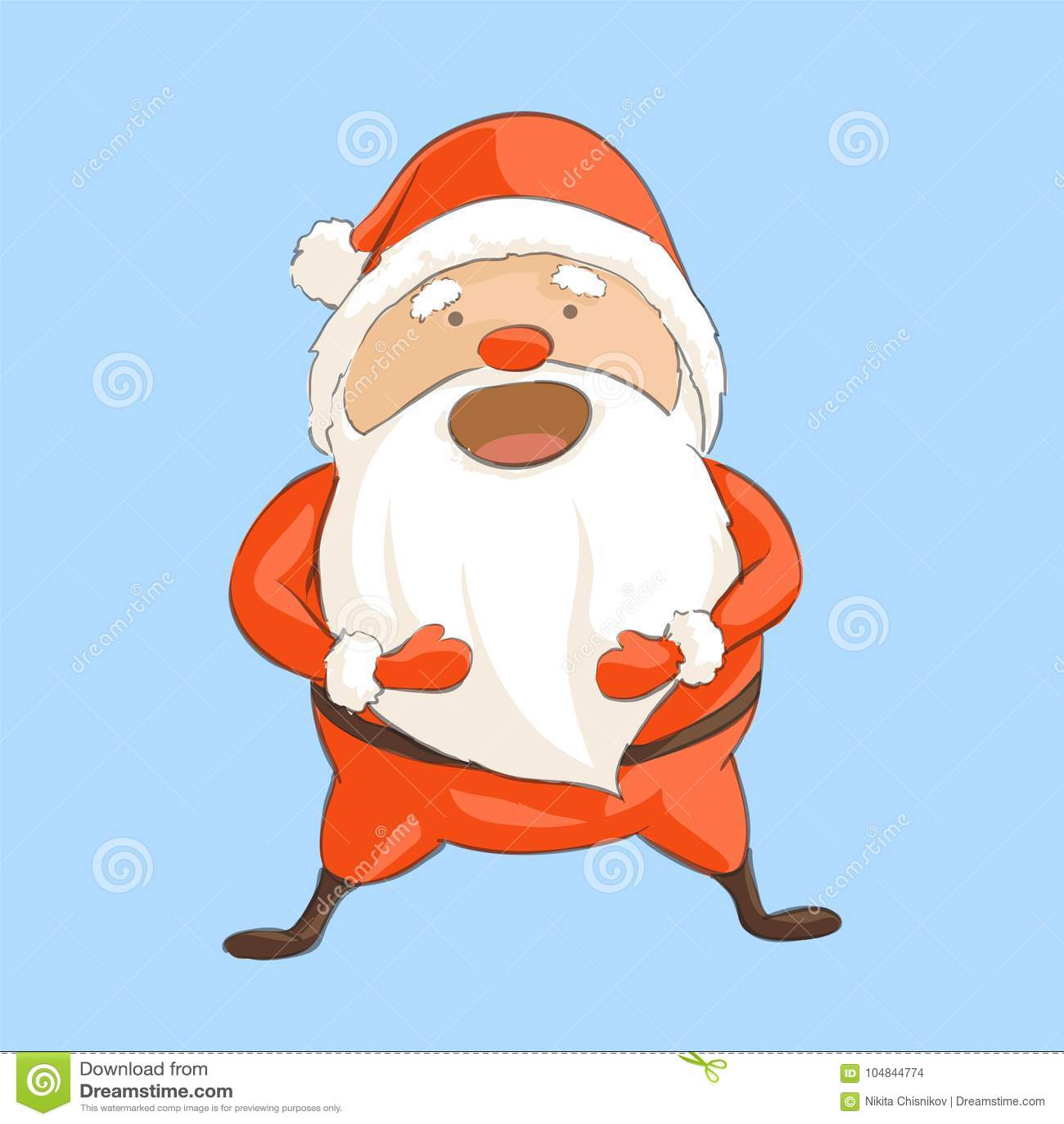 Санта Клаус смеется над aloud
