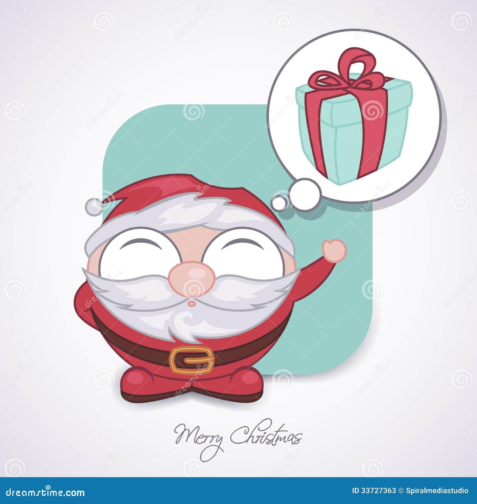 Санта Клаус tinking подарок