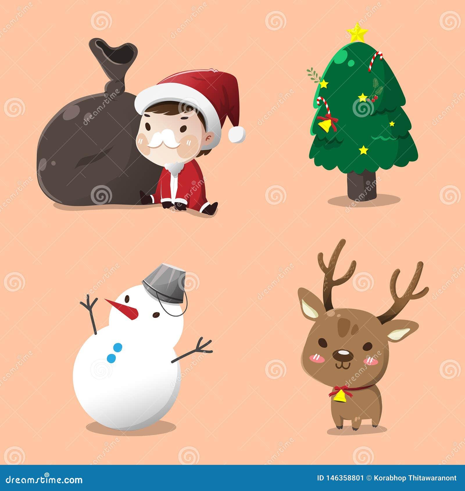 Санта установило на Рождество