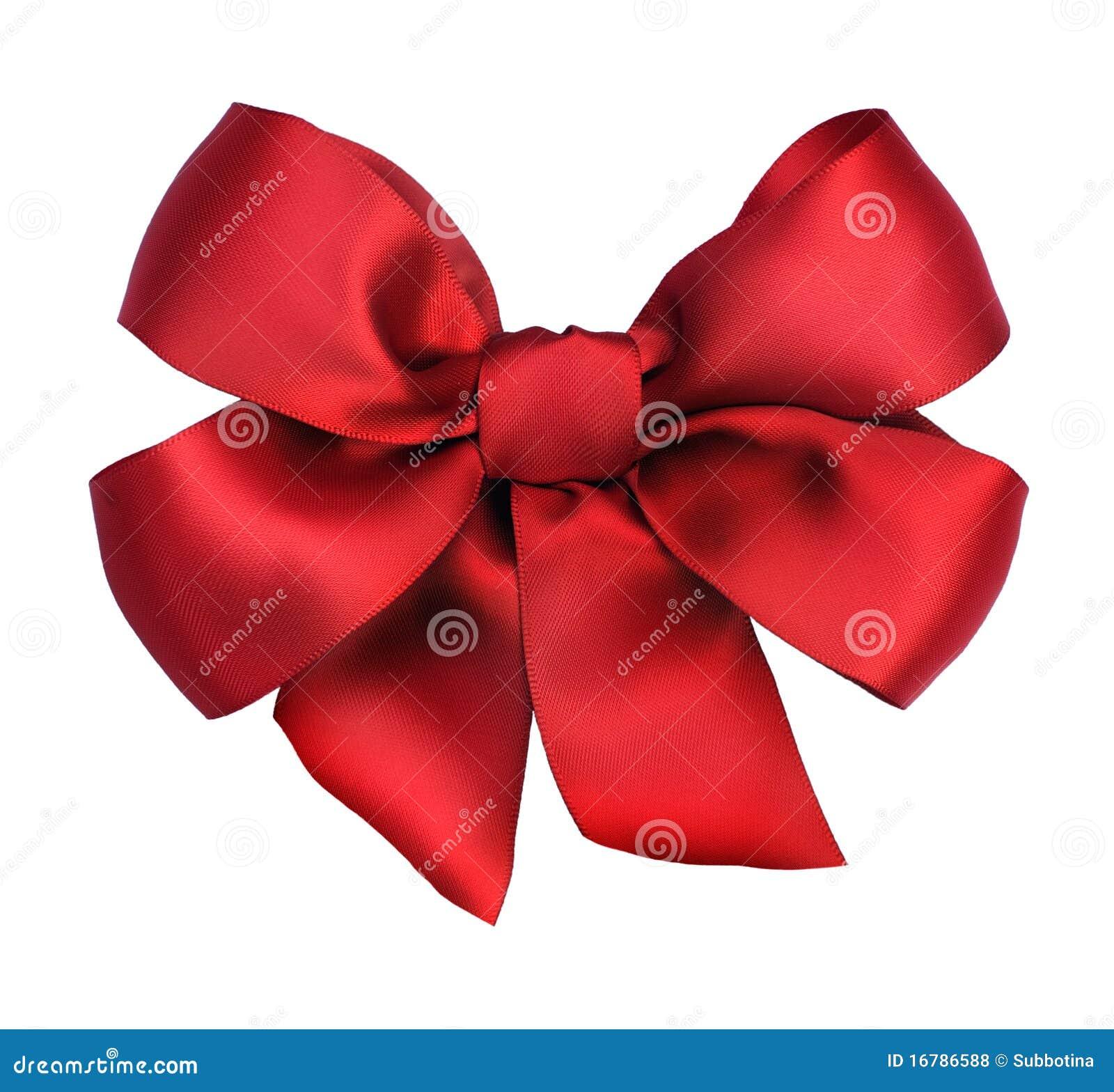 сатинировка тесемки подарка смычка красная