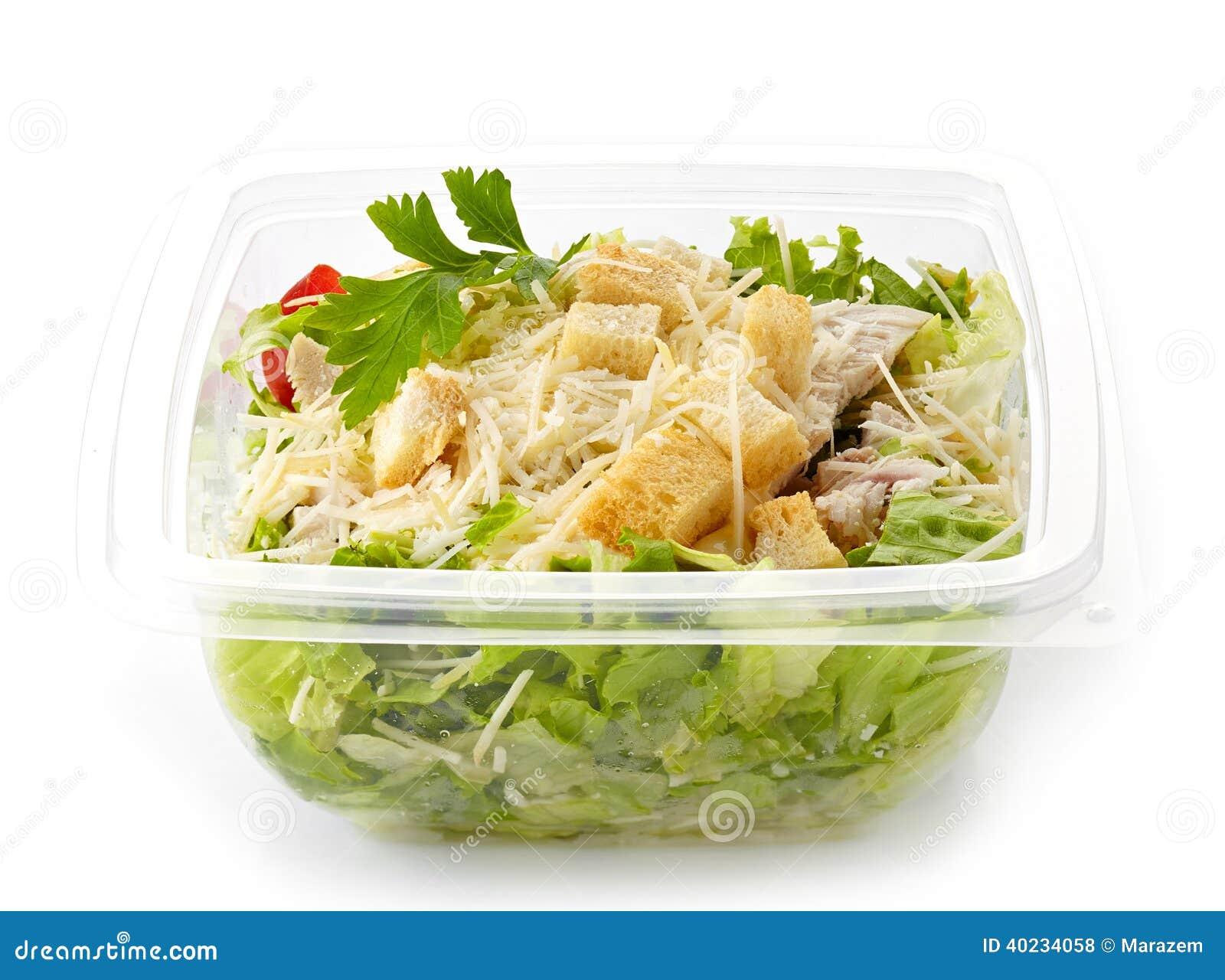 Салат в коробке пластичного взятия отсутствующей