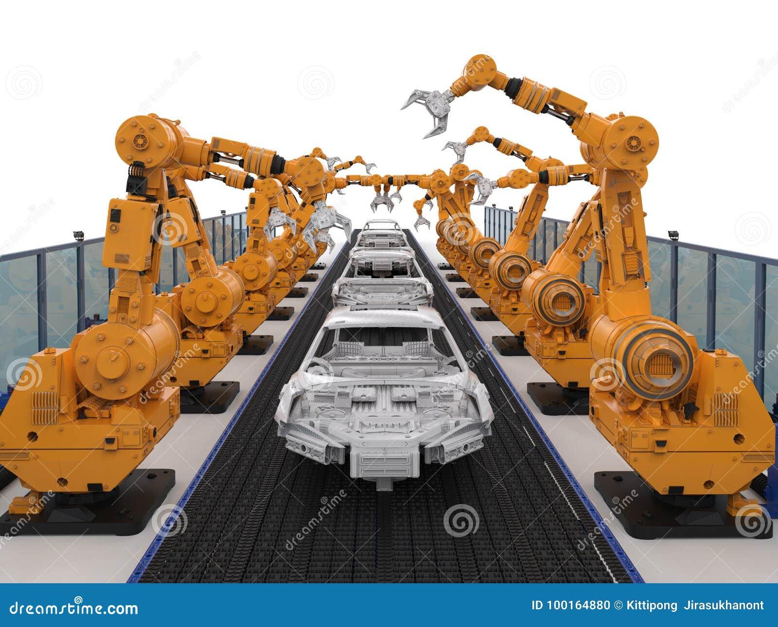 Конвейер автомобилей роботы фольксваген транспортер т4 блок двигателя