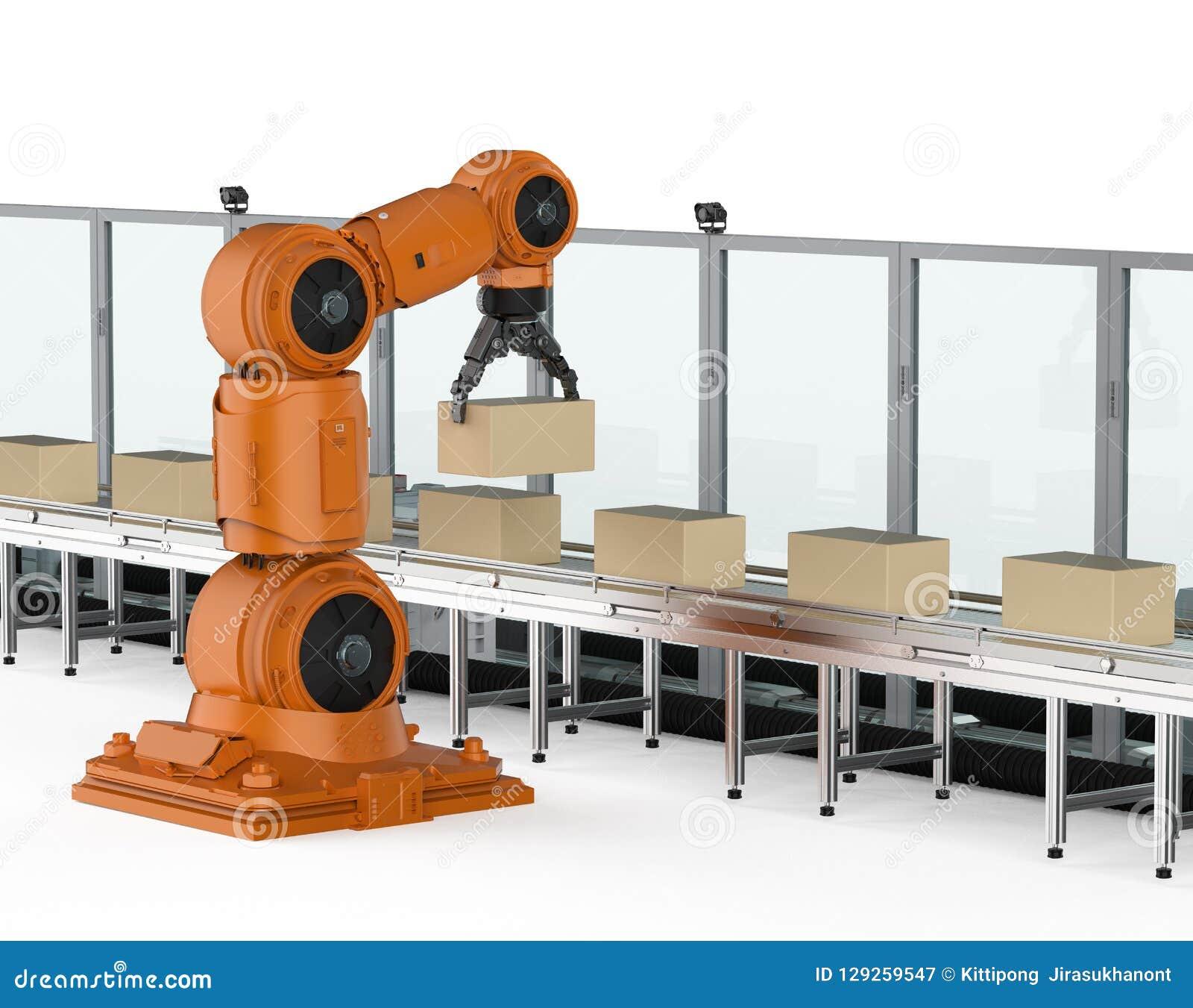 Конвейер робот руками пластины для транспортера