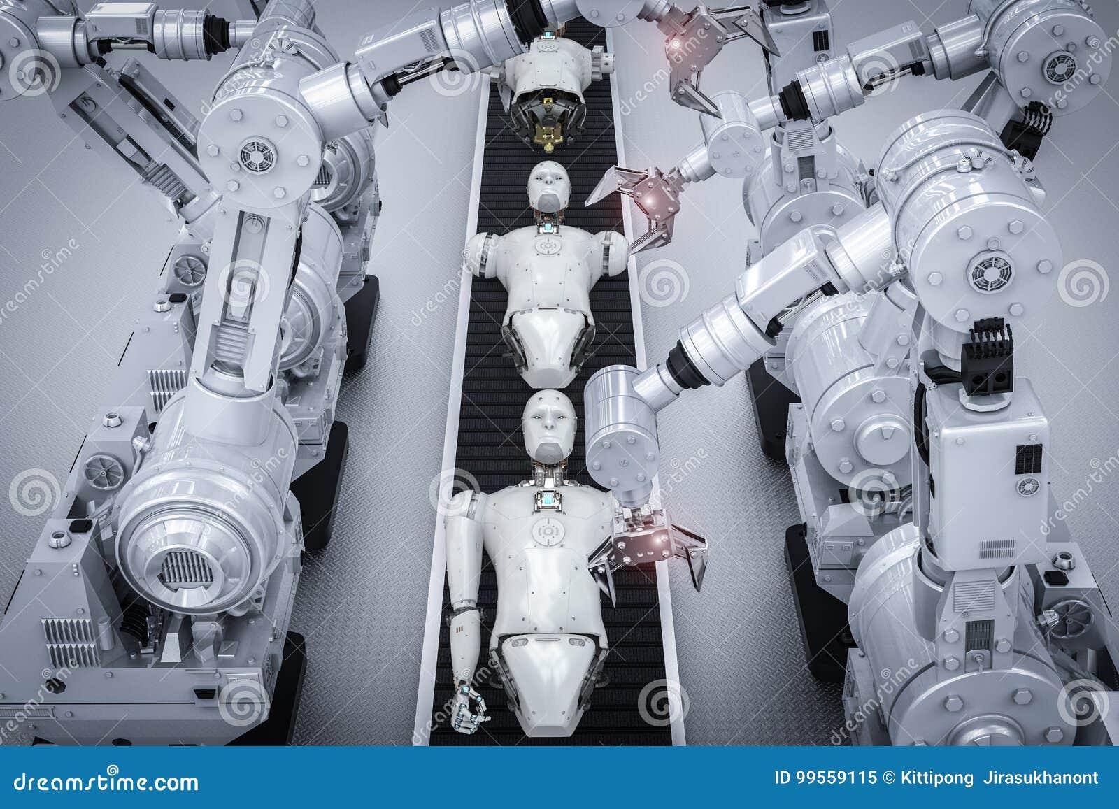 конвейер робот руками