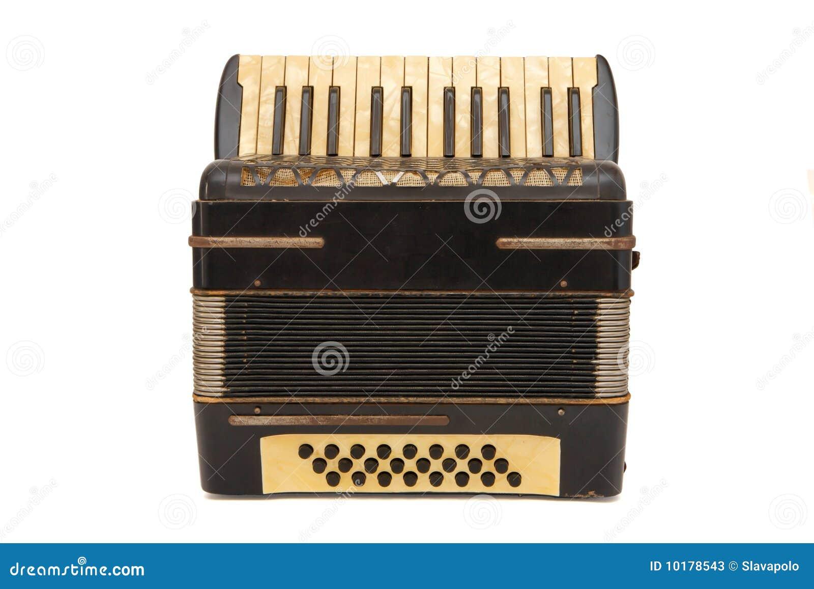сбор винограда аккордеони 1930s изолированный коричневым цветом